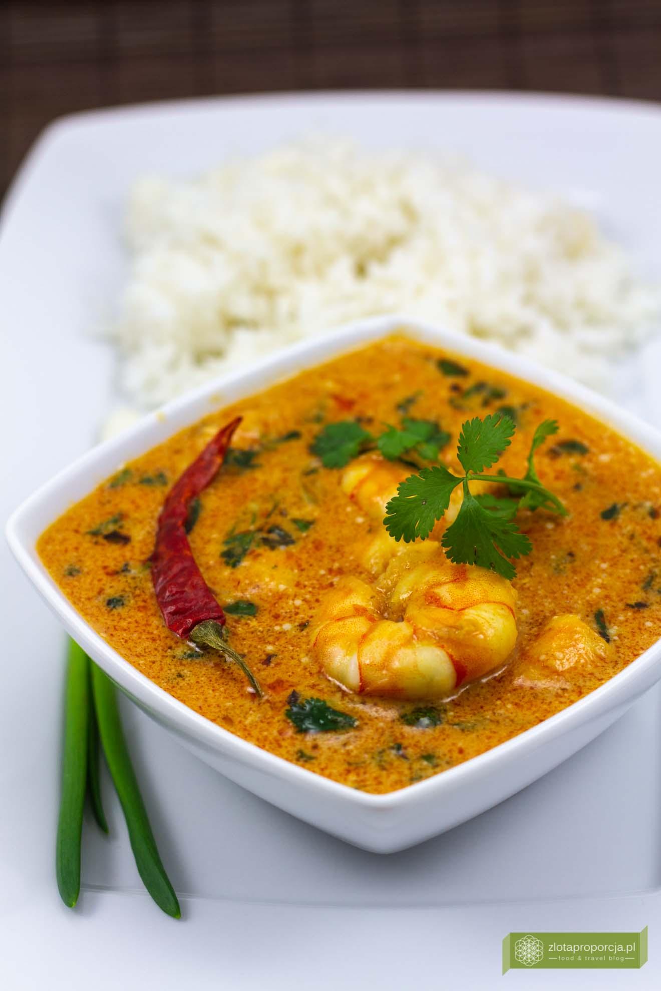 Czerwone Curry Z Krewetek Po Tajsku Kuchnia Tajska Przepisy