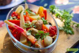 warzywa grillowane; warzywa grillowane na żarze; grillowane warzywa; warzywa grillowane w rękawie; grillowane warzywa ze świeżą kolendrą; grillowane warzywa ze świeżymi ziołami;