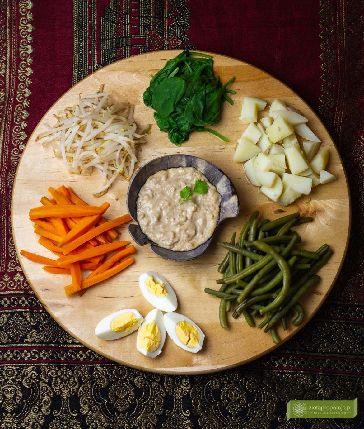 Indonezyjska Sałatka Gado Gado Kuchnia Indonezyjska Przepisy