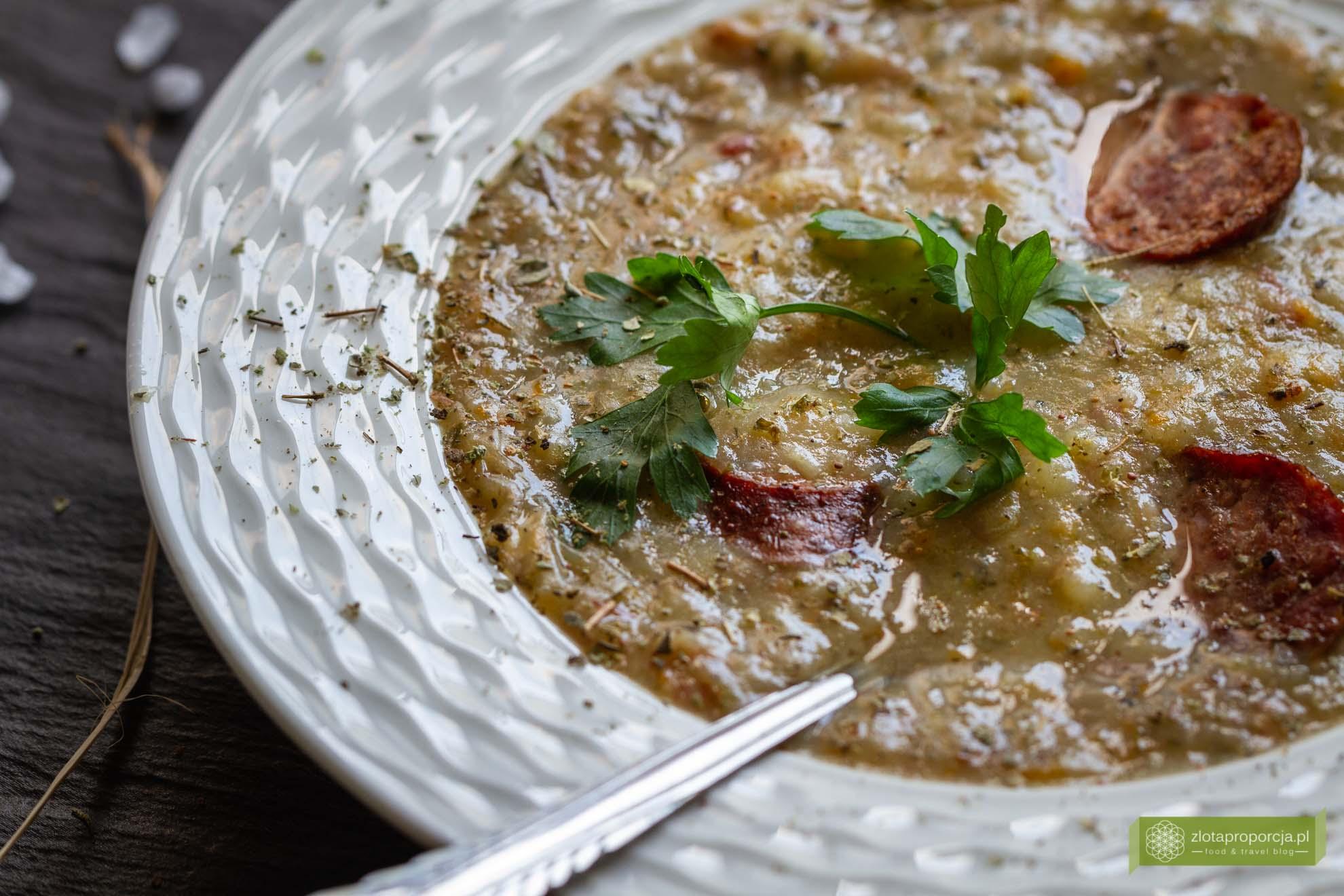 niemiecka zupa ziemniaczana, Kartoffelsuppe przepis, kuchnia niemiecka