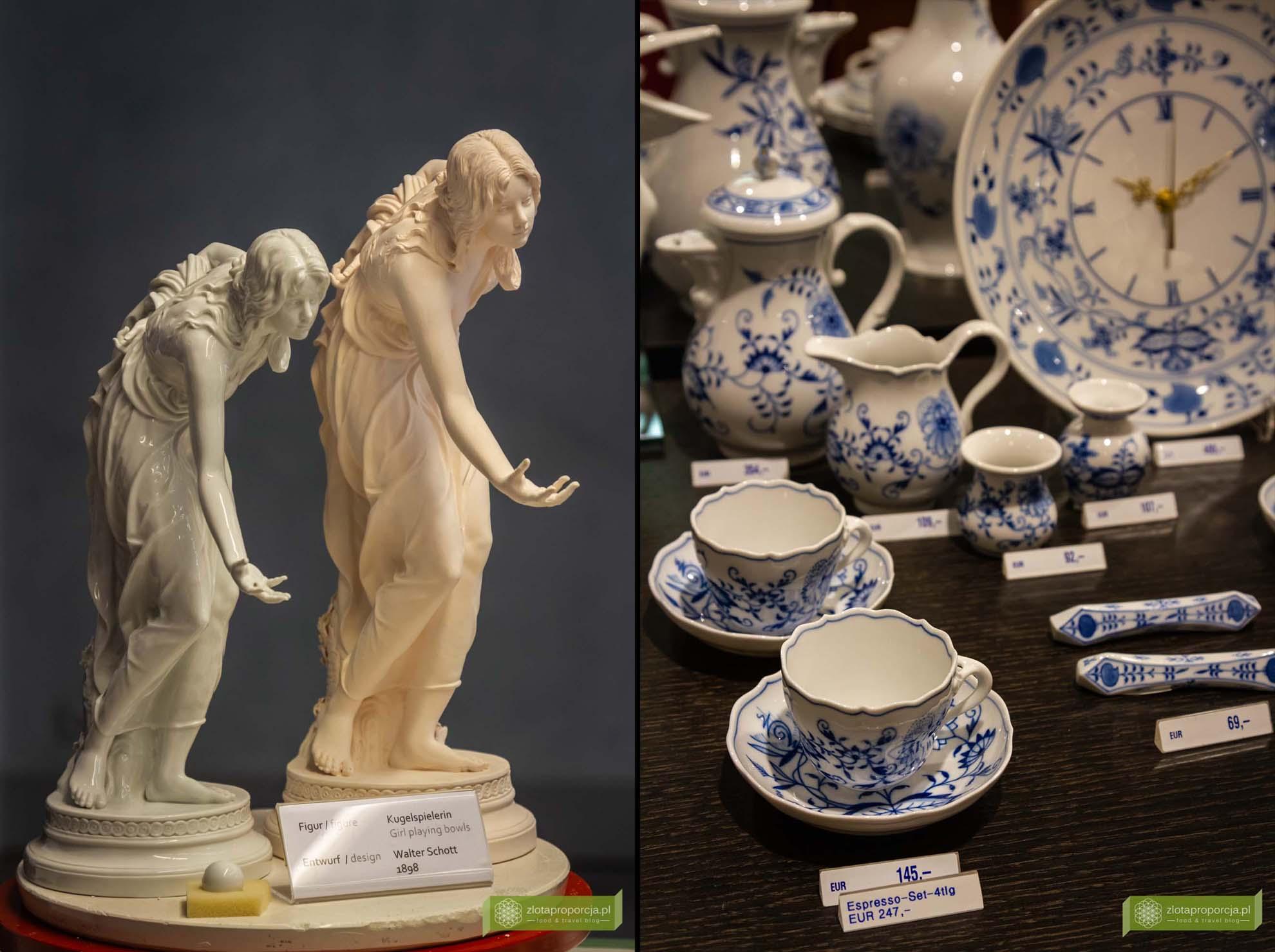 Miśnia, Saksonia, atrakcje Saksonii, Manufaktura Porcelany, porcelana miśnieńska