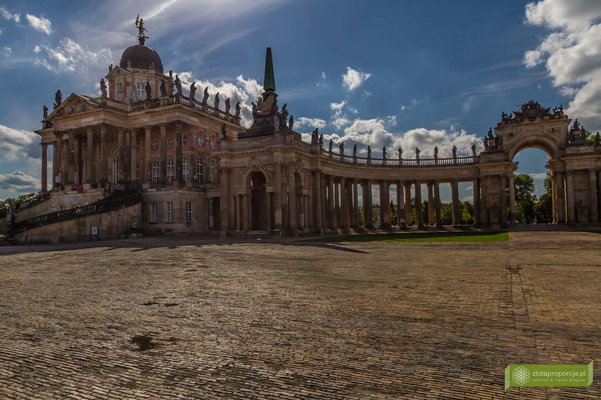 Poczdam, atrakcje Poczdamu, Brandenburgia, atrakcje Brandenburgii; Sanssouci; Poczdam Sanssouci; Park Sanssouci; Pałac Sanssouci; Neues Palais