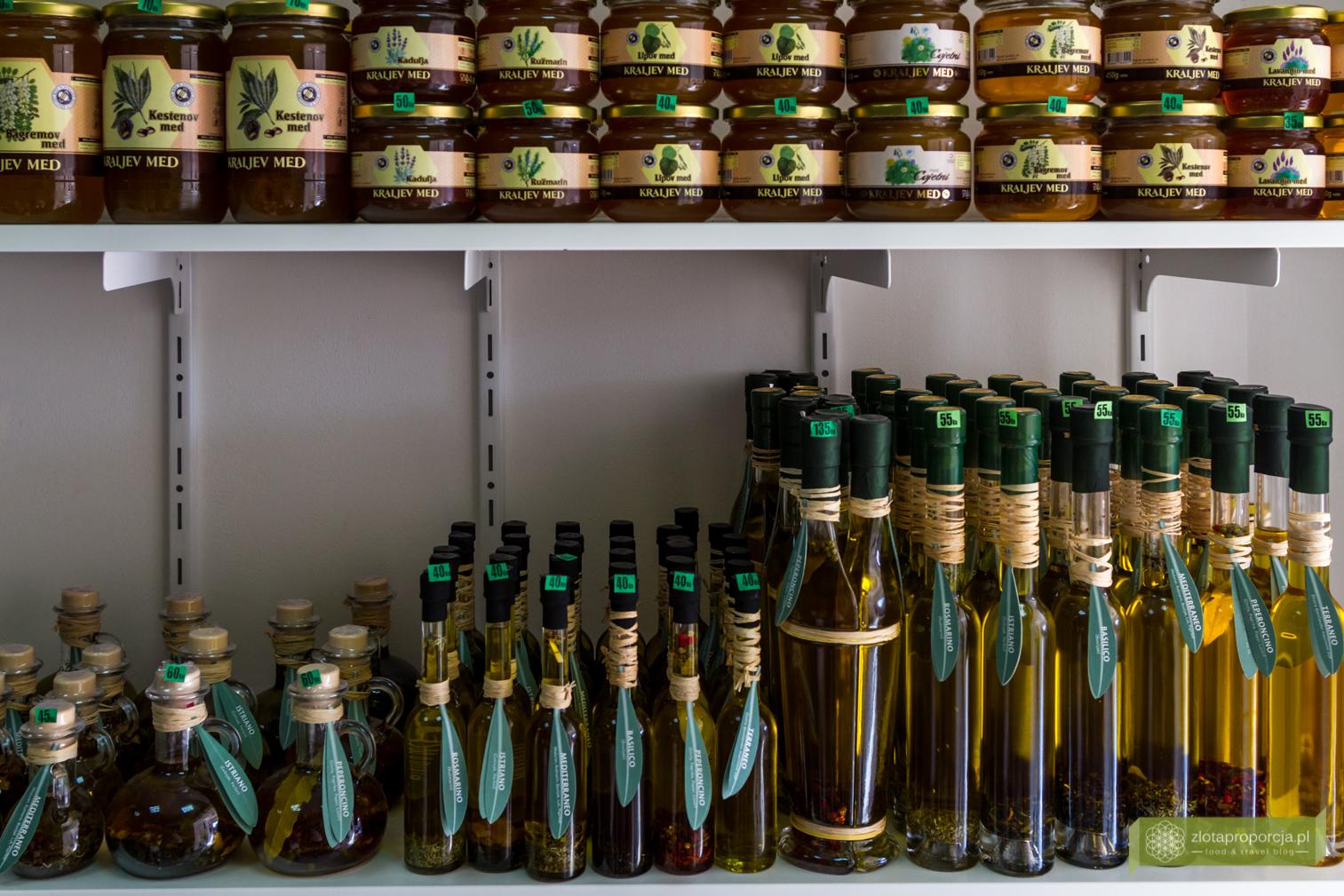 kuchnia chorwacka, kuchnia Istrii, Istria, co zjeść na Istrii, miody, oliwy