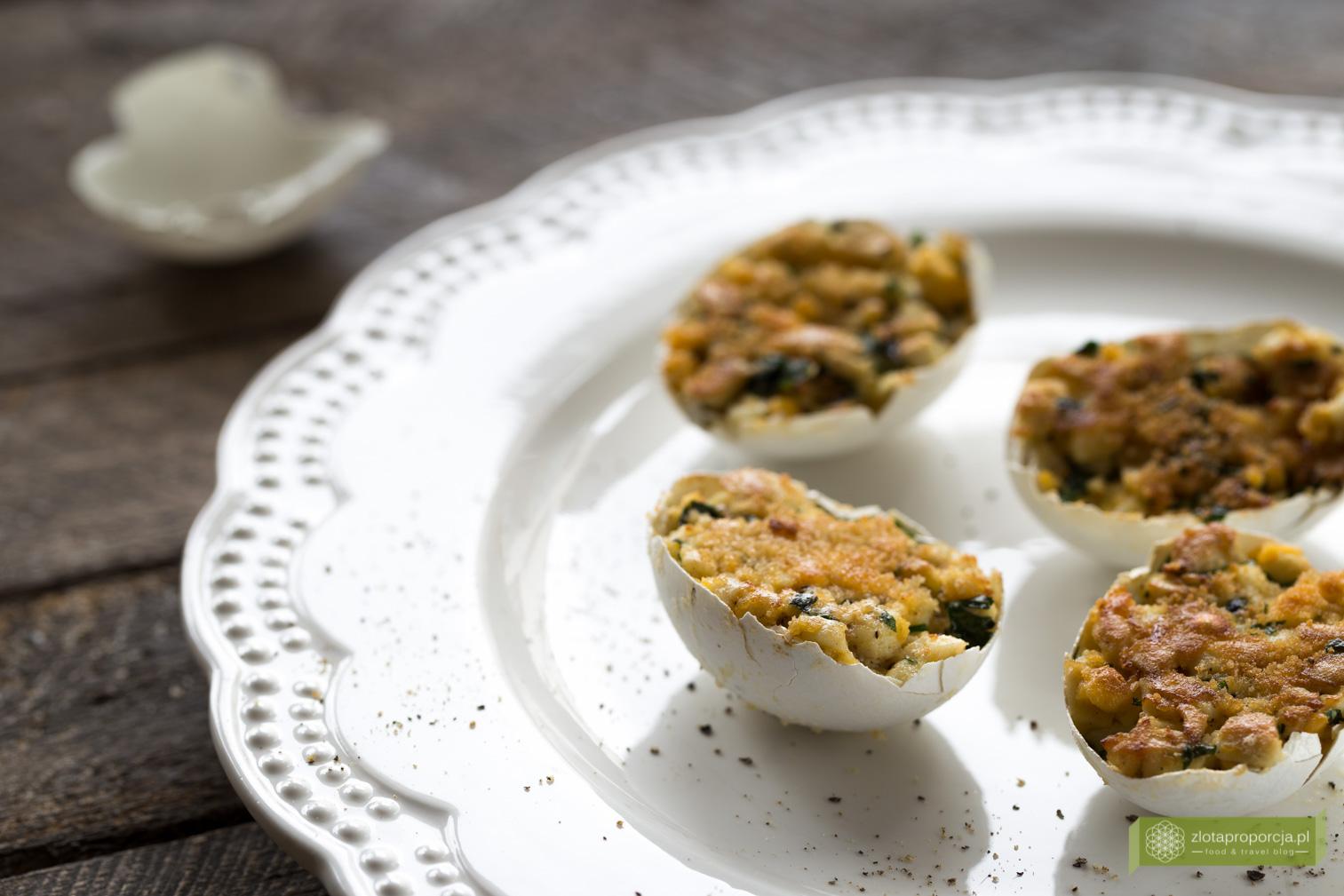 Jajka faszerowane w skorupkach, jajka faszerowane, przepisy świąteczne, jajka faszerowane na wielkanoc