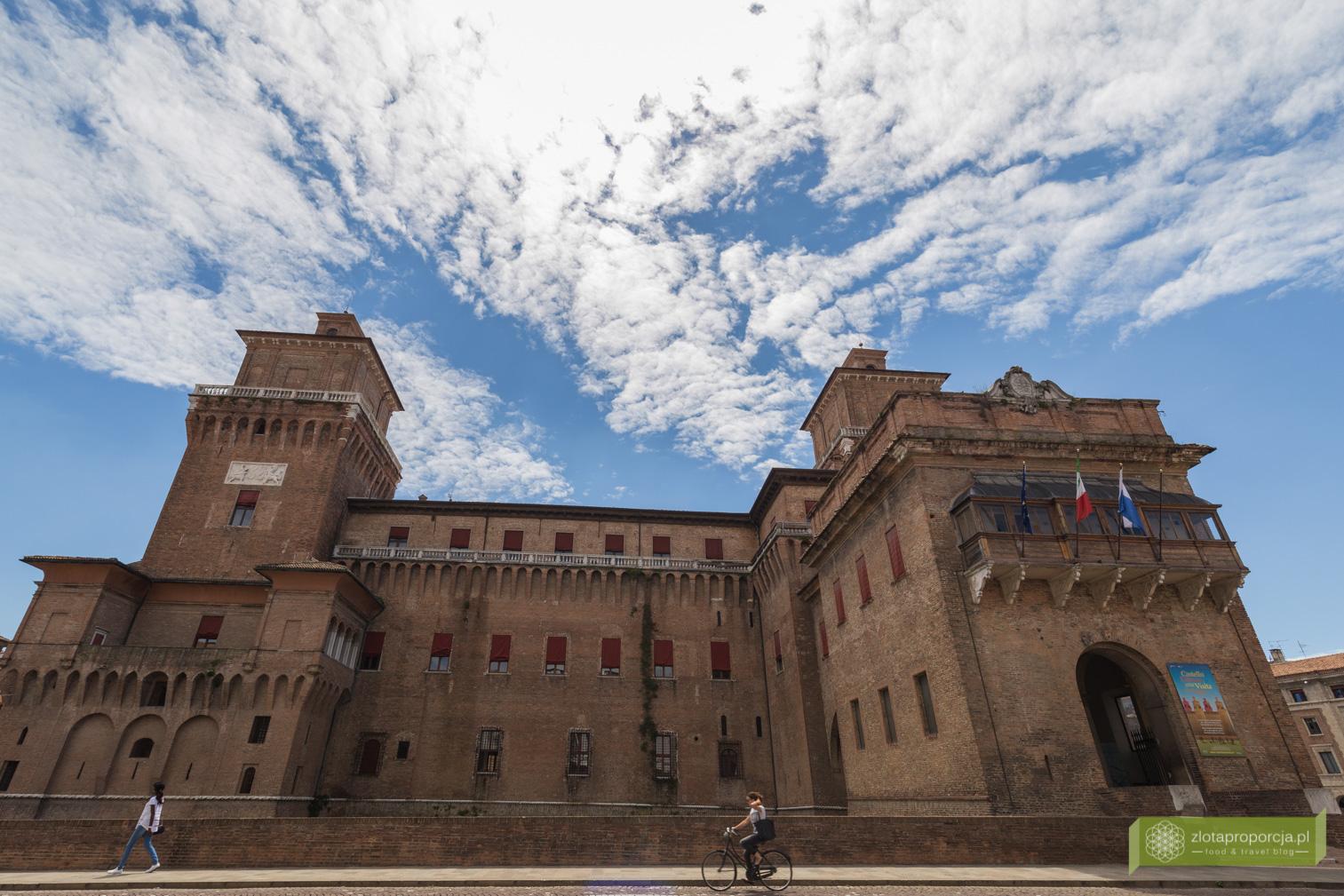 Castello Estense Ferrara, Ferrara, zamek w Ferrarze, atrakcje Ferrary, Castello Estense, Emilia Romania