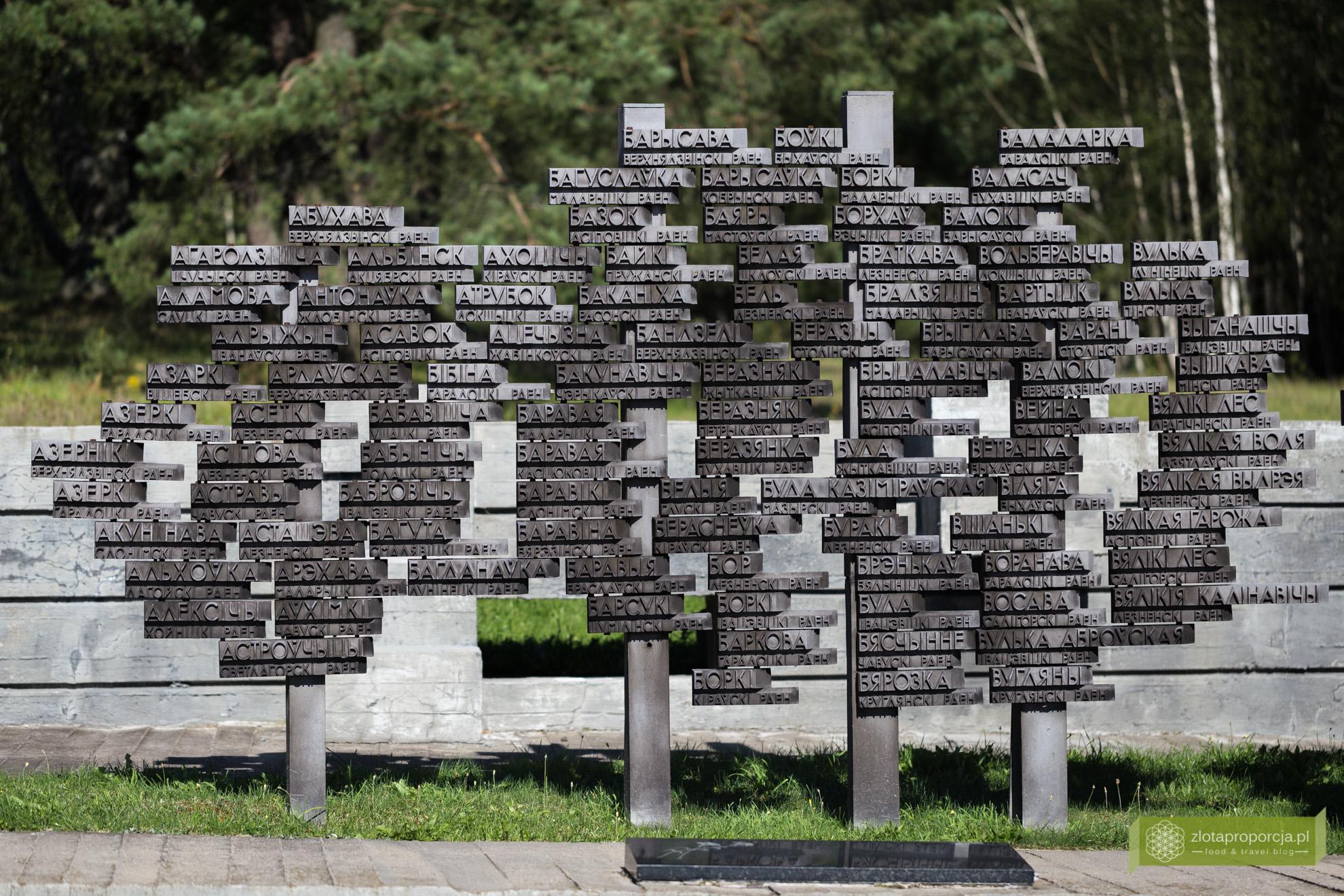 Chatyń, Masakra w Chatyniu, Białoruś; okolice Mińska