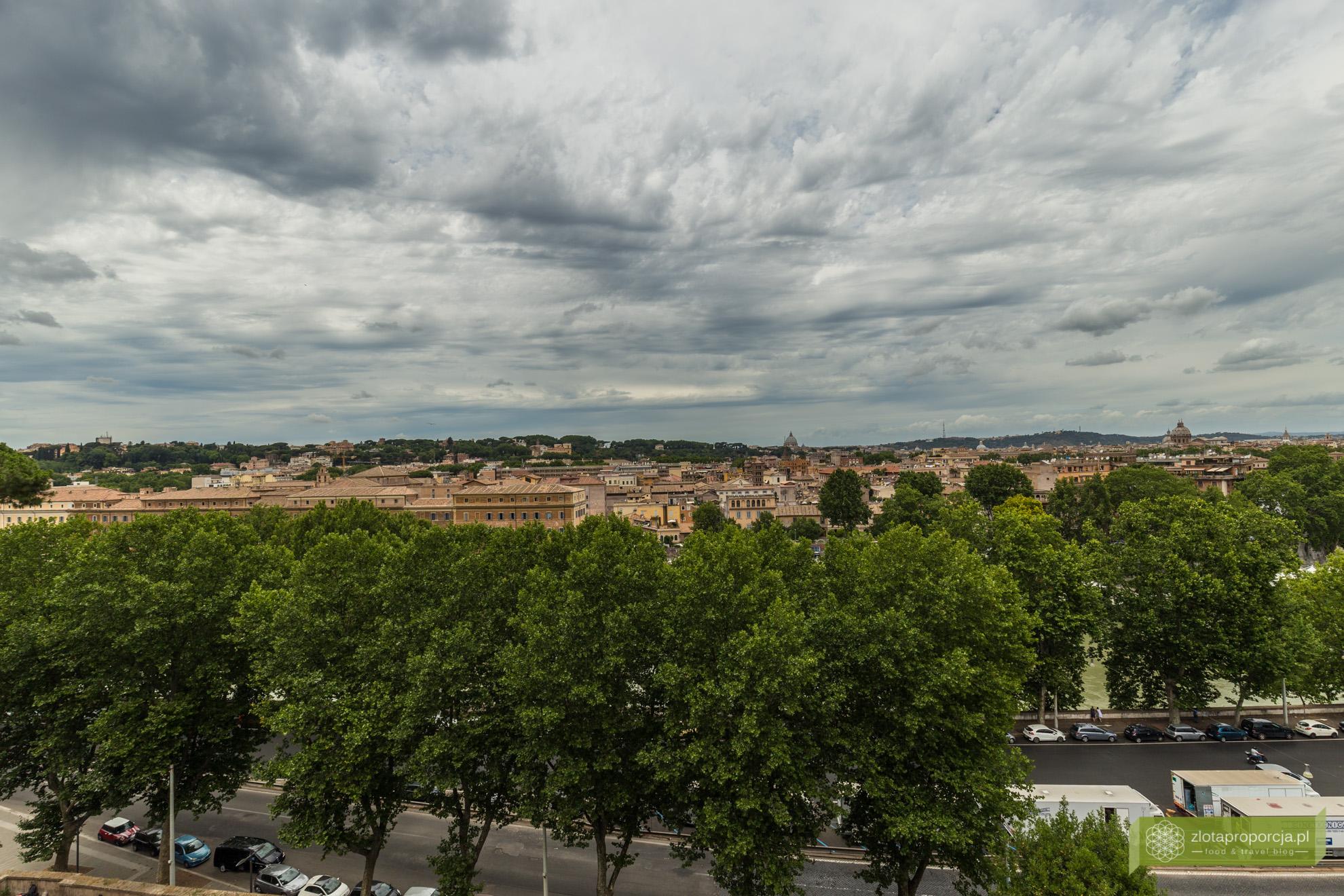 Rzym, Awentyn, Ogód Pomarańczowy, panorama Rzymu