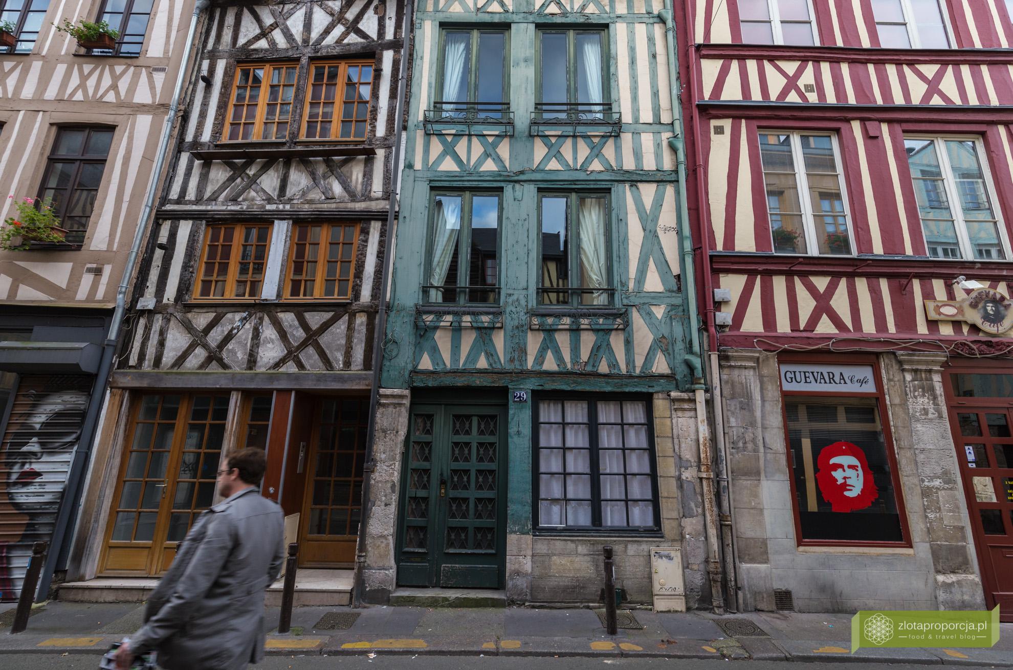 Rouen,vNormandia, atrakcje Rouen, atrakcje Normandii, zabytkowe kamienice w Rouen