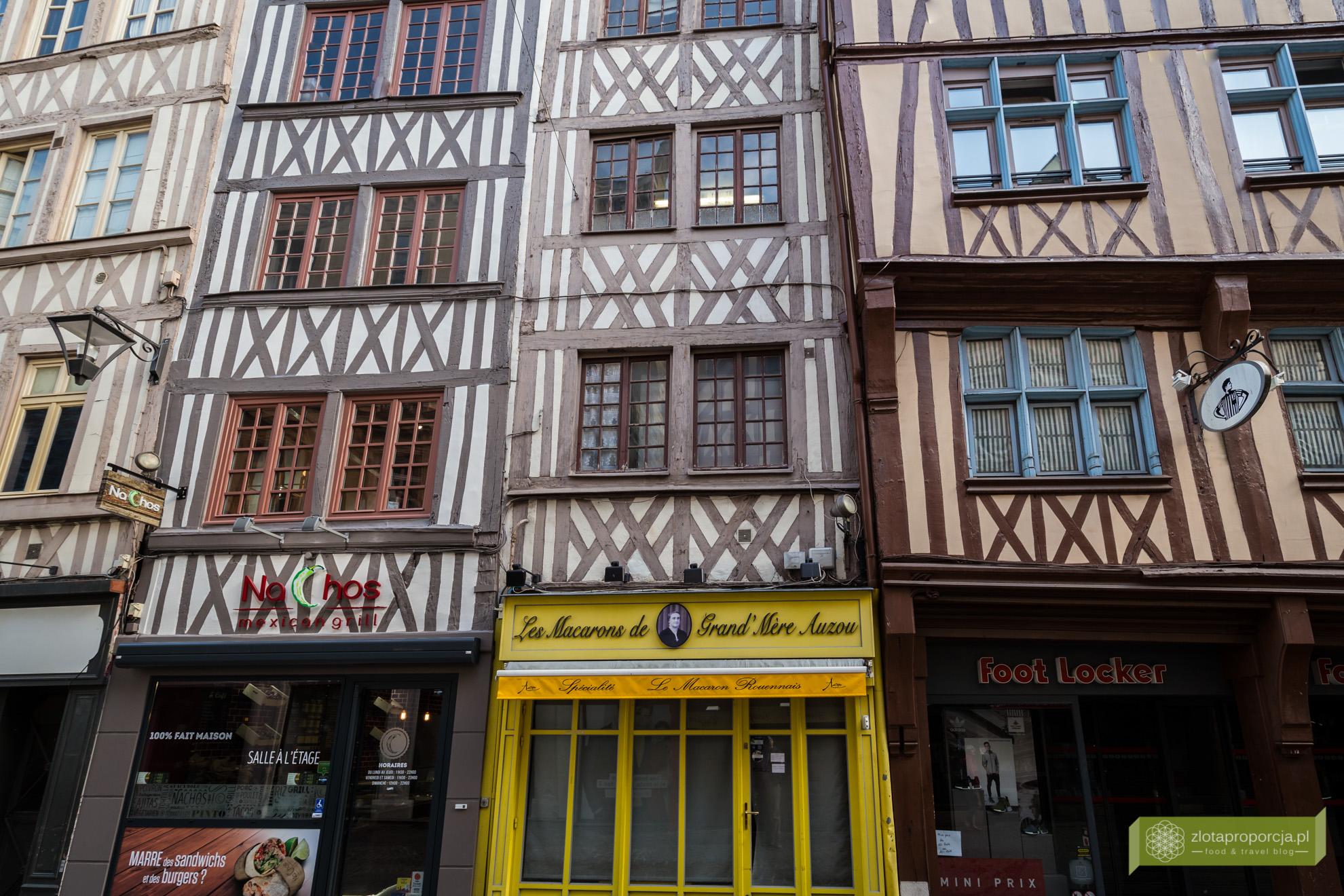 Rouen,vNormandia, atrakcje Rouen, atrakcje Normandii, Francja, zabytkowe kamienice w Rouen