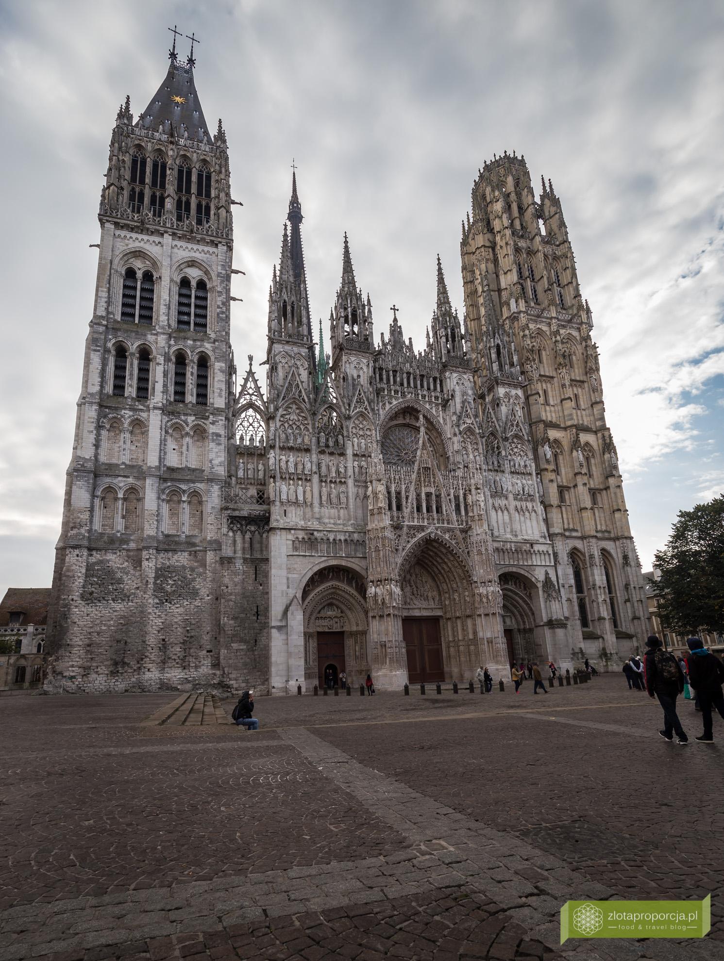 Rouen,vNormandia, atrakcje Rouen, atrakcje Normandii, Francja, katedra w Rouen