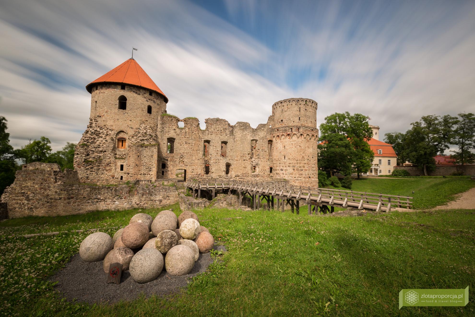 Łotwa, Park Narodowy Gauja, atrakcje Łotwy, Cesis, Kieś, zamek w Cesis