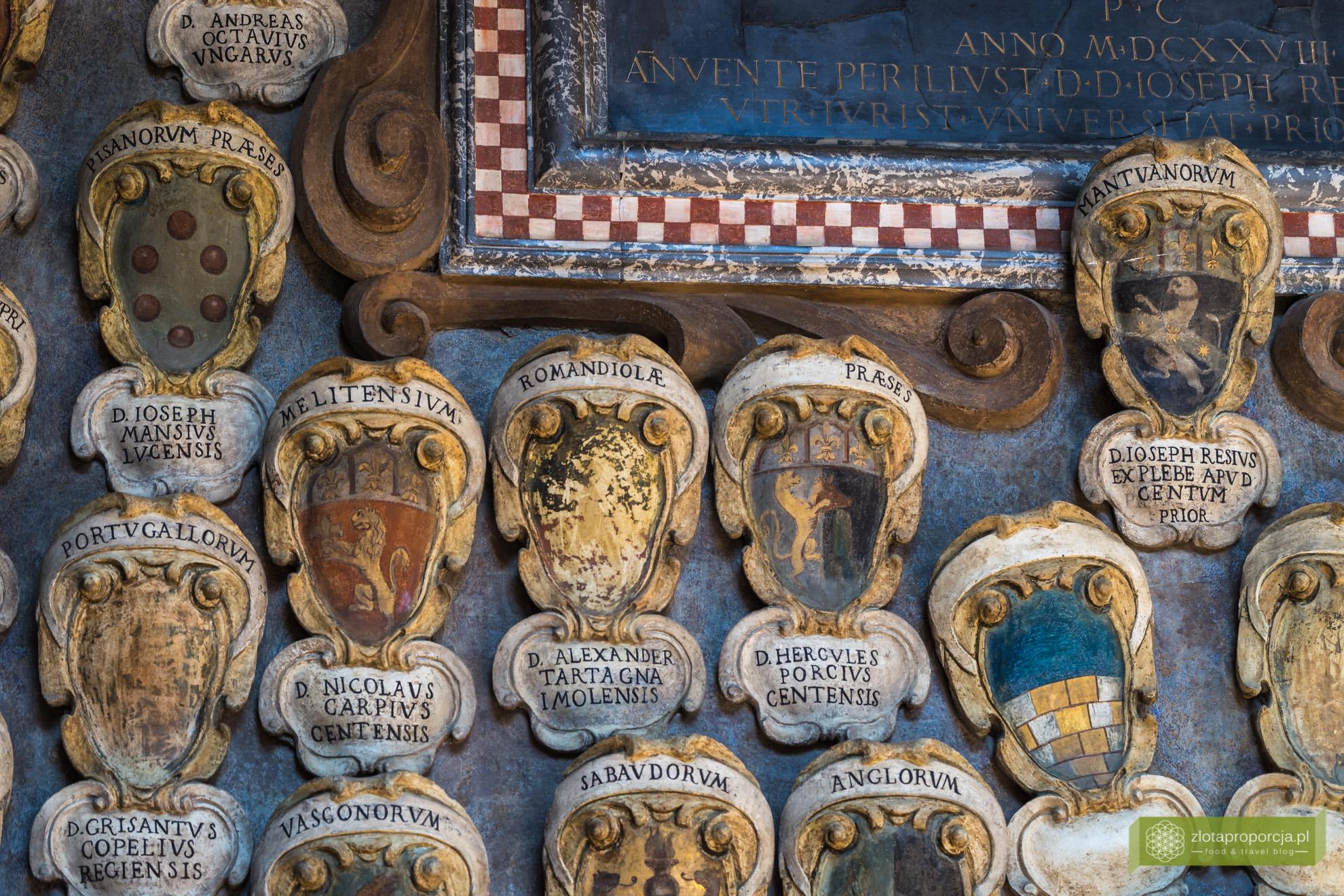 Bolonia, atrakcje Bolonii, Uniwersytet Boloński, Archiginnasio, Emilia Romania