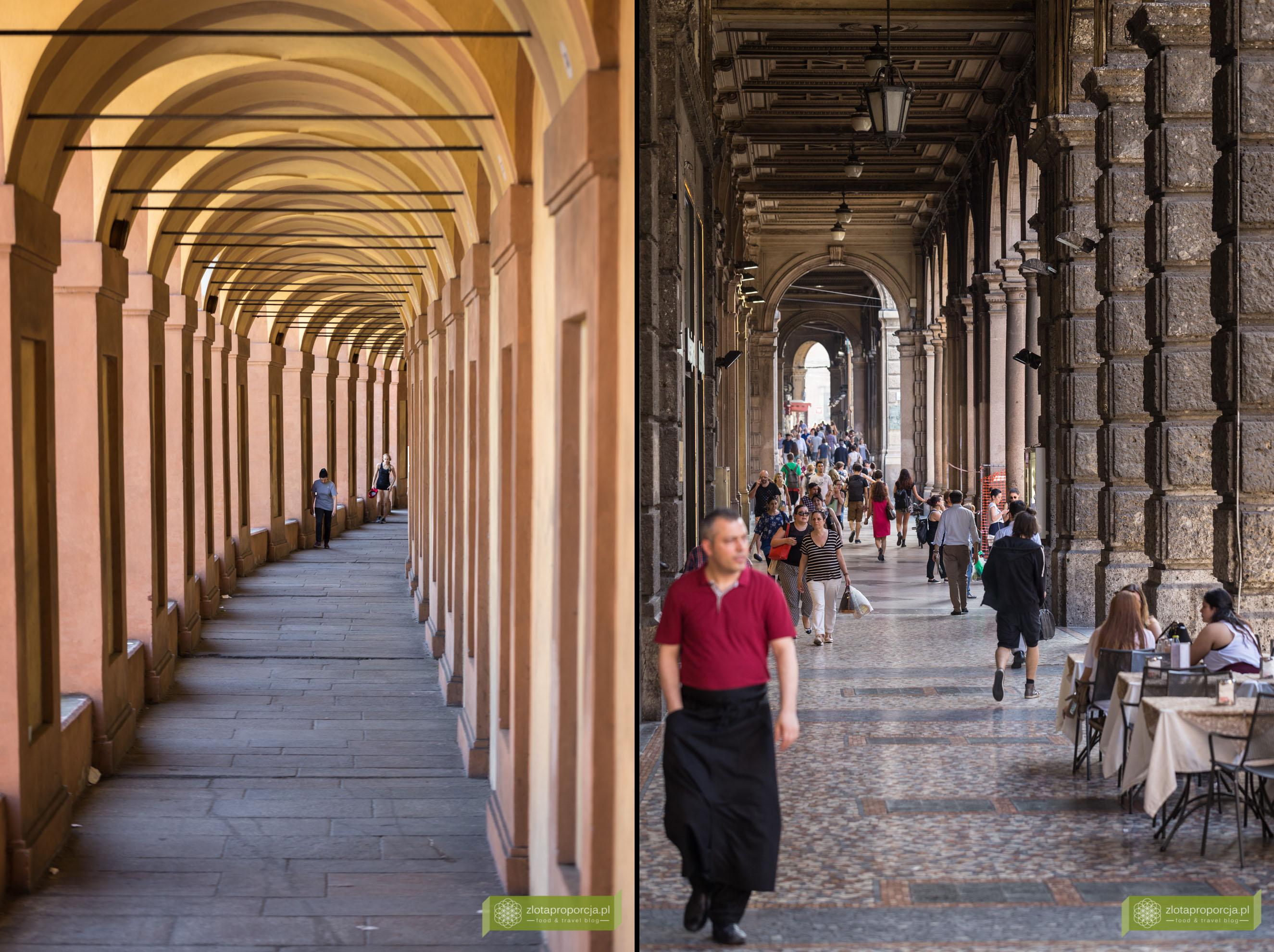 Bolonia, atrakcje Bolonii, zwiedzanie Bolonii, portyki w Bolonii,, Emilia Romania,