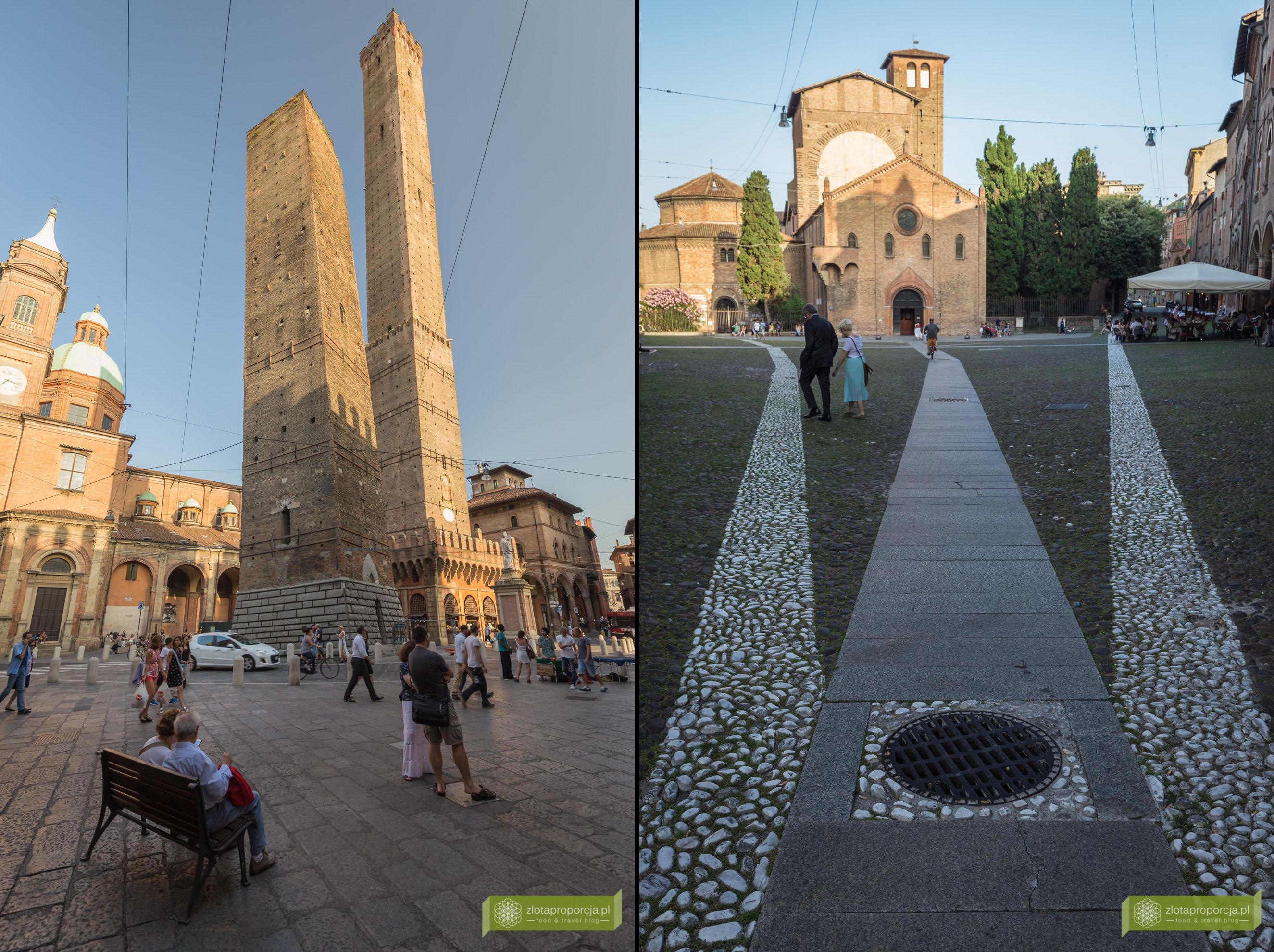 Bolonia, atrakcje Bolonii, zwiedzanie Bolonii, Due Torri, wieże w Bolonii, Emilia Romania, Santa Stefano