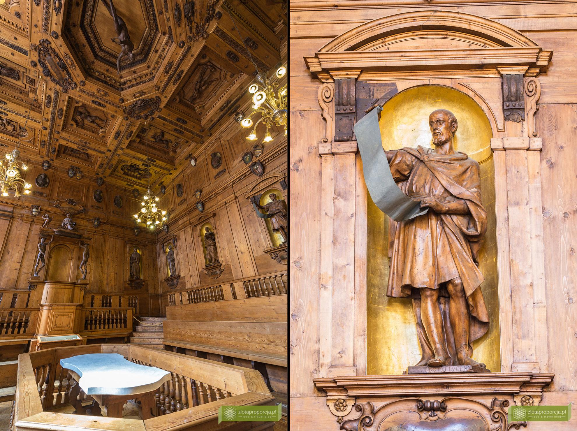 Bolonia, atrakcje Bolonii, Uniwersytet Boloński, Archiginnasio, Teatro Anatomico
