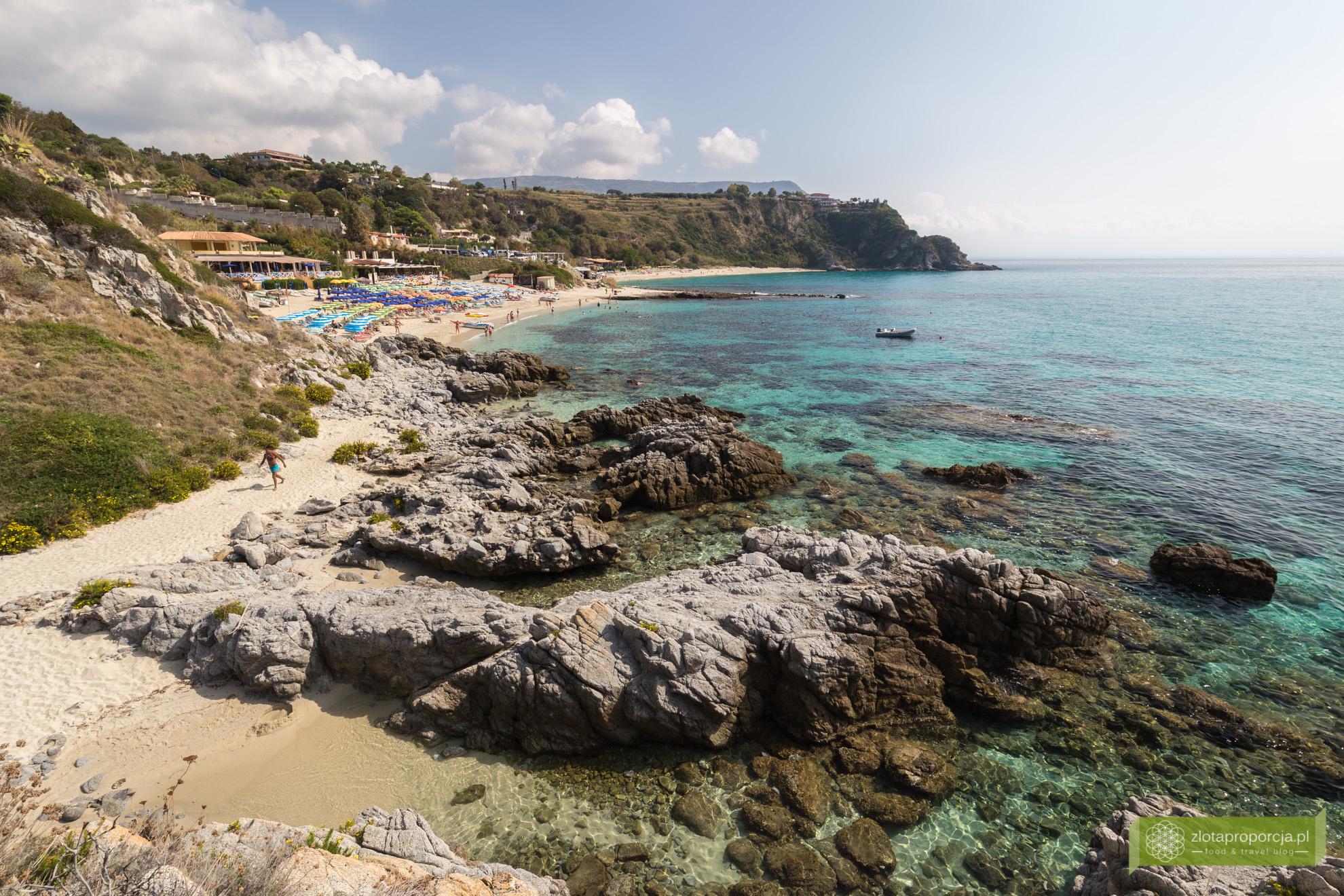 Kalabria, plaże Kalabrii, Capo Vaticano, plaże Capo Vaticano, Plaża Grotticelle