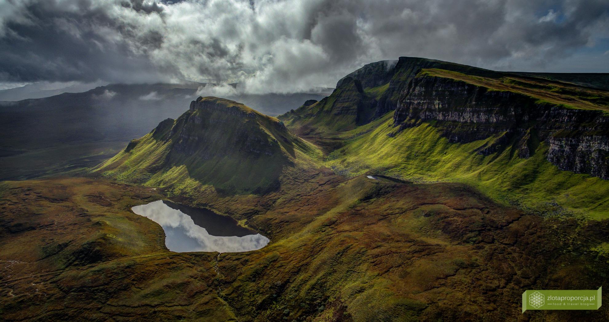 Quiraing, Isle of Skye, Wyspa Skye, atrakcje Szkocji, atrakcje Wyspy Skye