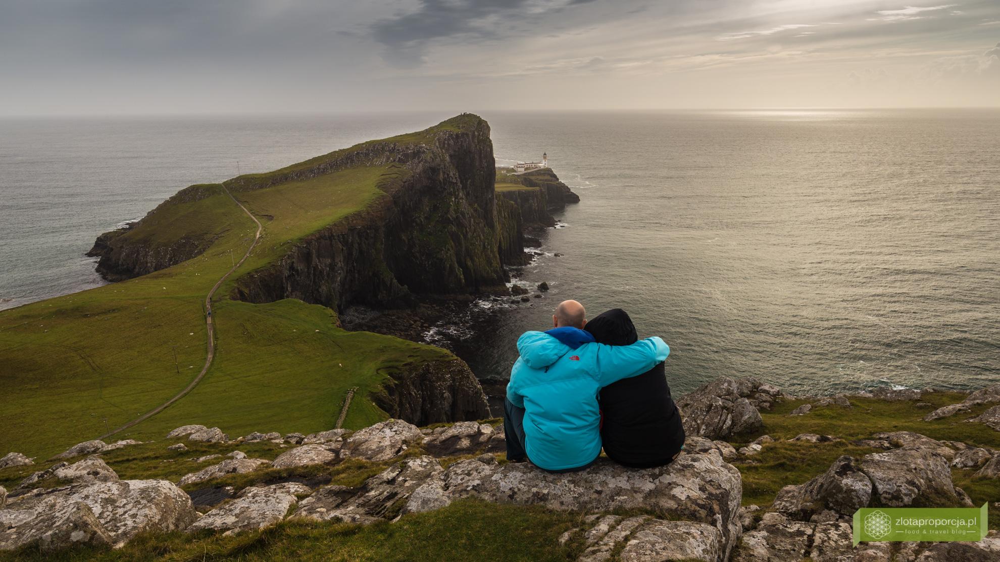 Neist Point, klify w Szkocji, Isle of Skye, Wyspa Skye, atrakcje Szkocji, atrakcje Wyspy Skye