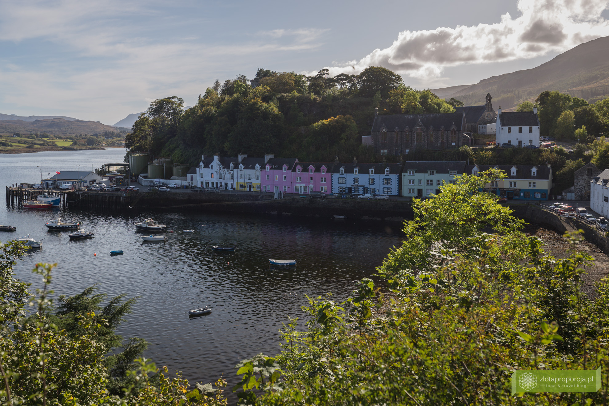 Portree, Isle of Skye, Wyspa Skye, atrakcje Szkocji, atrakcje Wyspy Skye