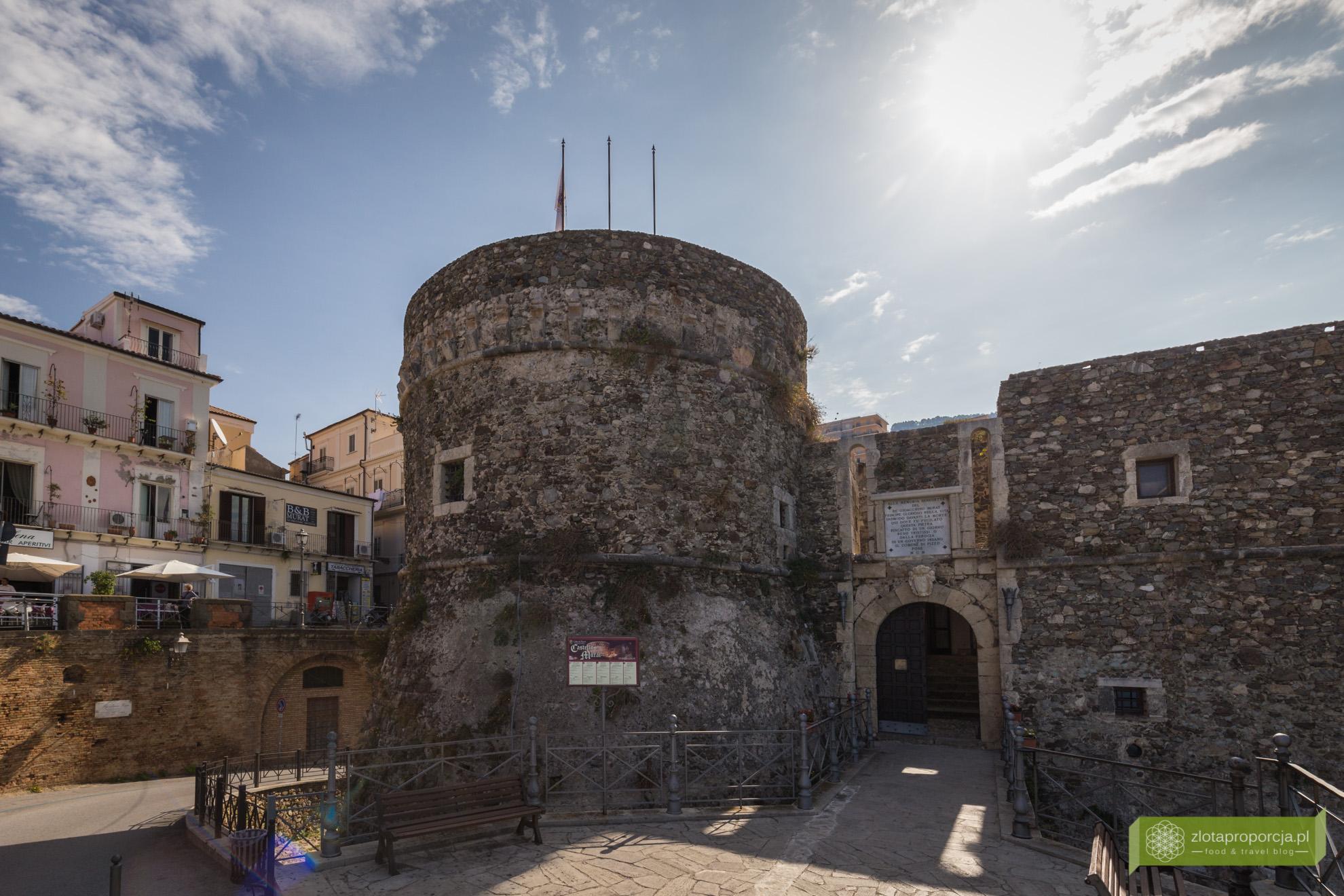 Pizzo, Kalabria, atrakcje Kalabrii, Kalabria zdjęcia, Zamek Murata, Castello Murat