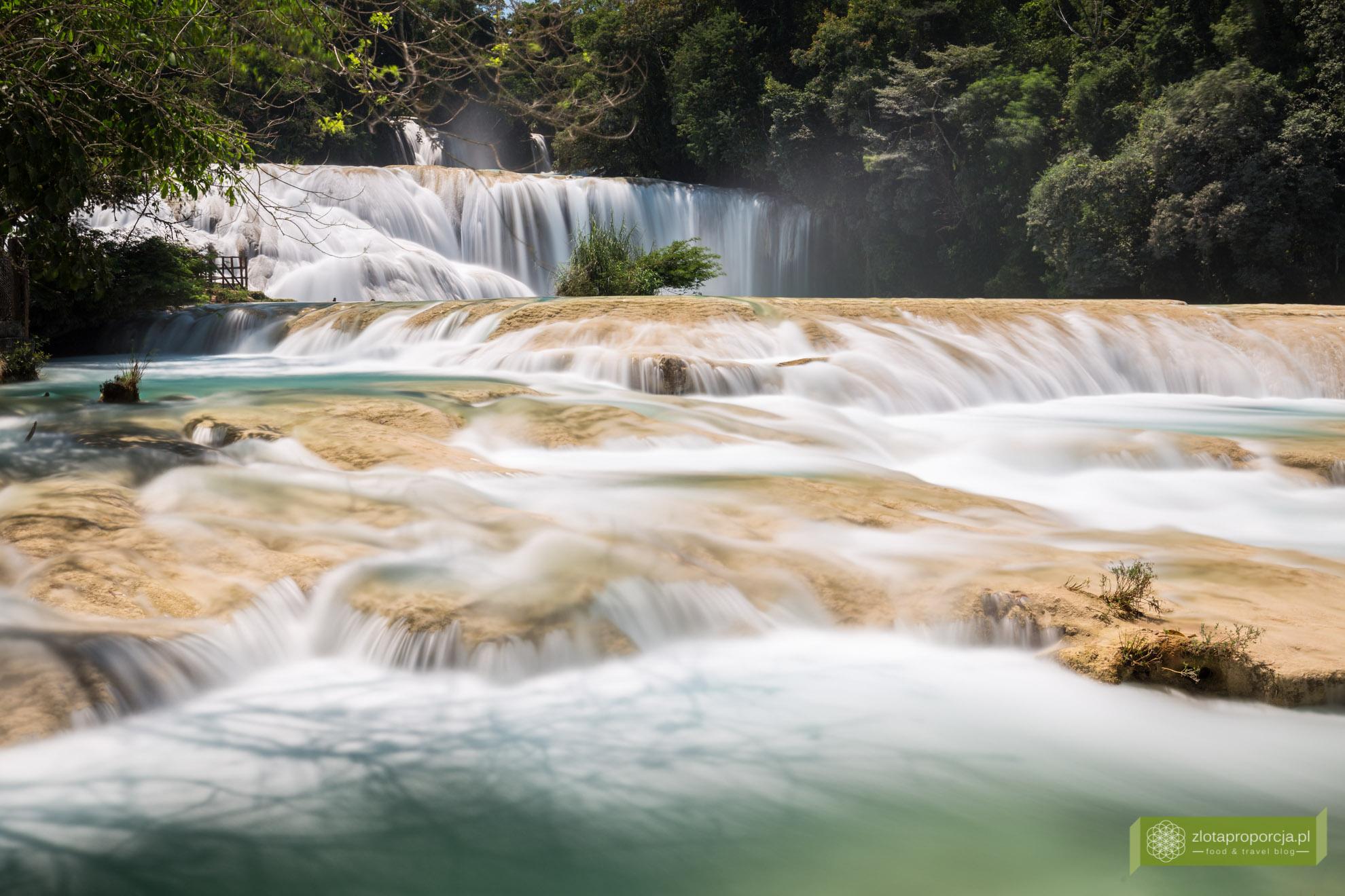 Meksyk, Jukatan, dookoła Jukatanu, Chiapas, Agua Azul