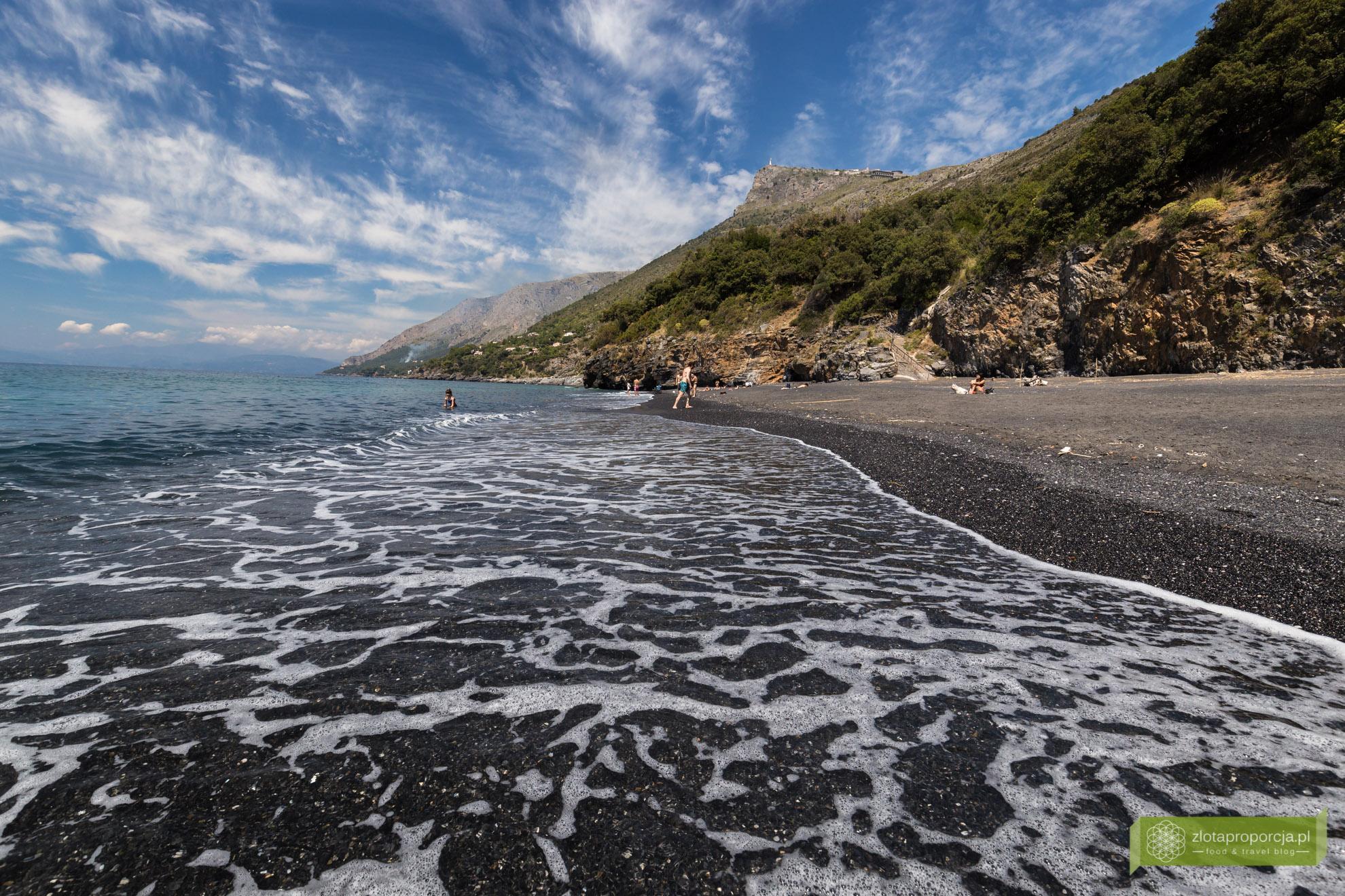 Maratea, Bazylikata, plaże Bazylikaty, plaża Maratea, czarna plaża
