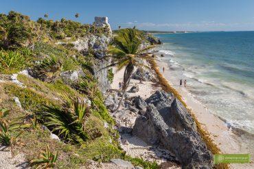 Tulum, ruiny w Tulum, Jukatan, Meksyk, ruiny Majów