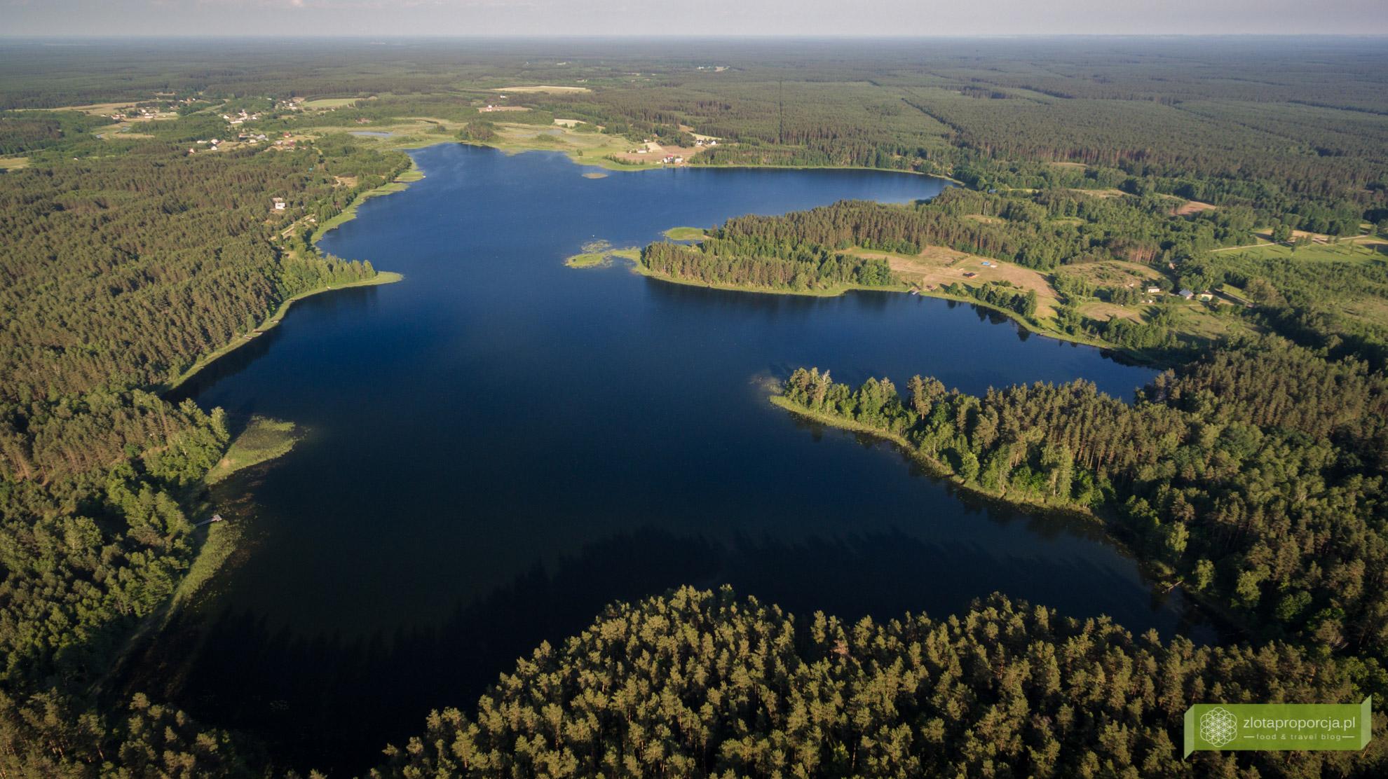 Jezioro Zelwa, Suwalszczyzna, atrakcje Suwalszczyny, Suwalszczyzna z drona, Podlasie