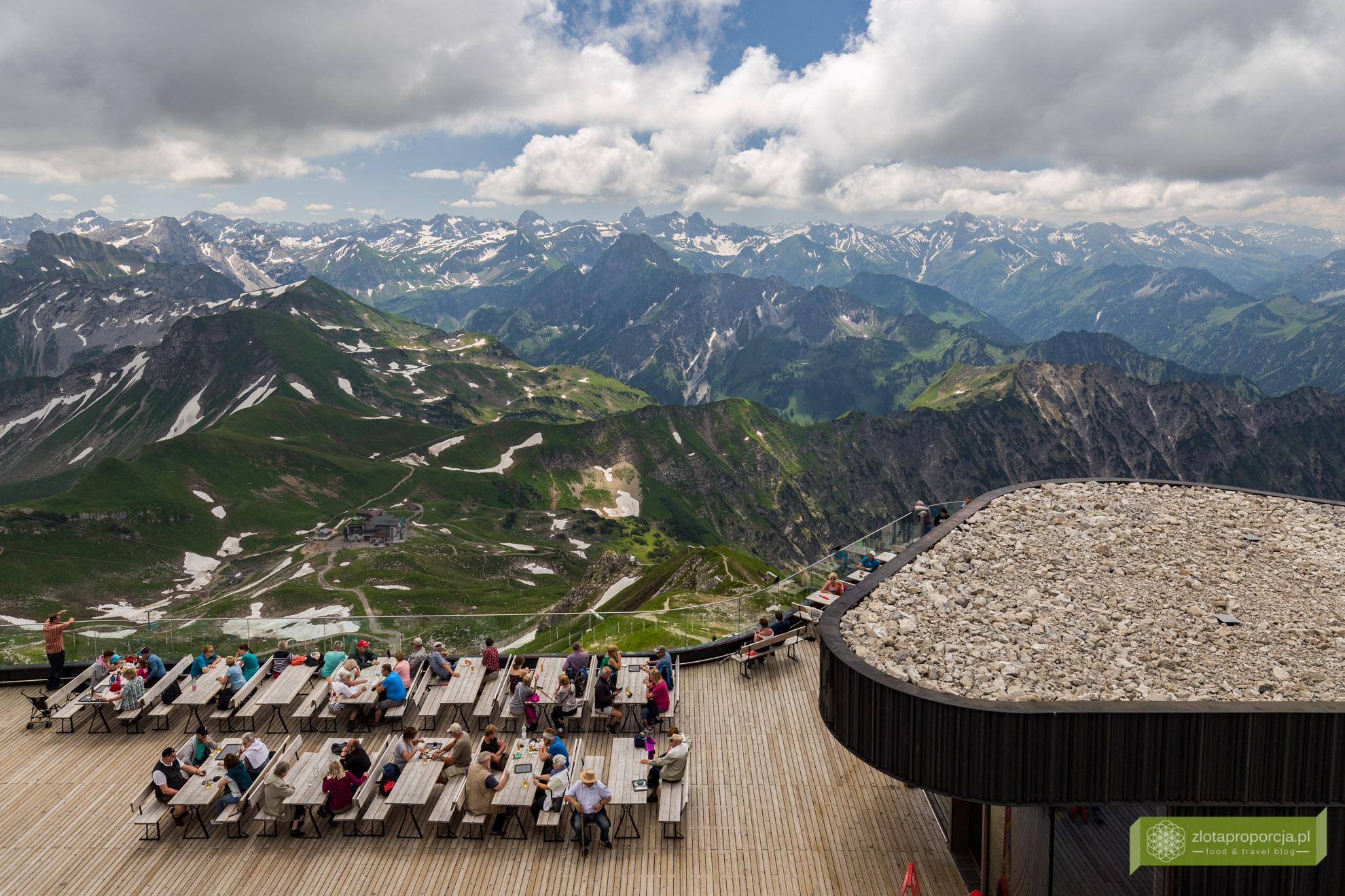 Alpy Algawskie, Oberstdorf, Bawaria, Nebelhorn, widok na 400 szczytów