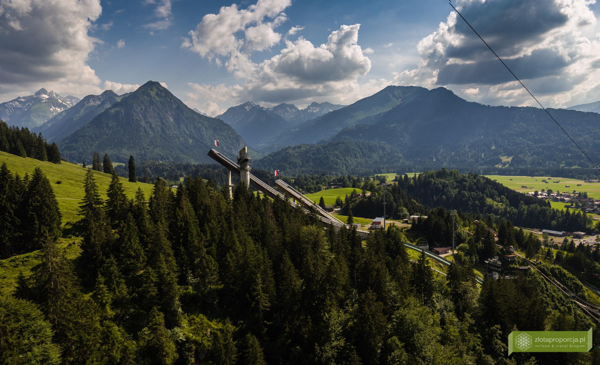 Alpy Algawskie, Oberstdorf, Bawaria, szkocznia Audi Arena