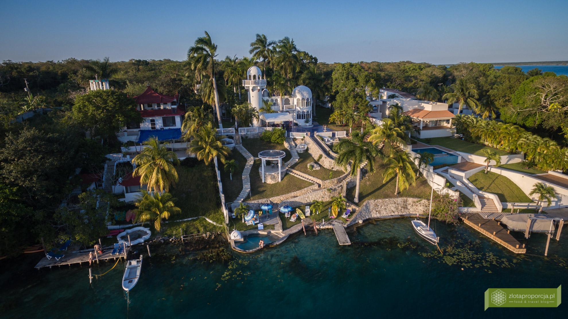 noclegi na Jukatania, nocleg w Bacalar, Meksyk, Villa Esmeralda