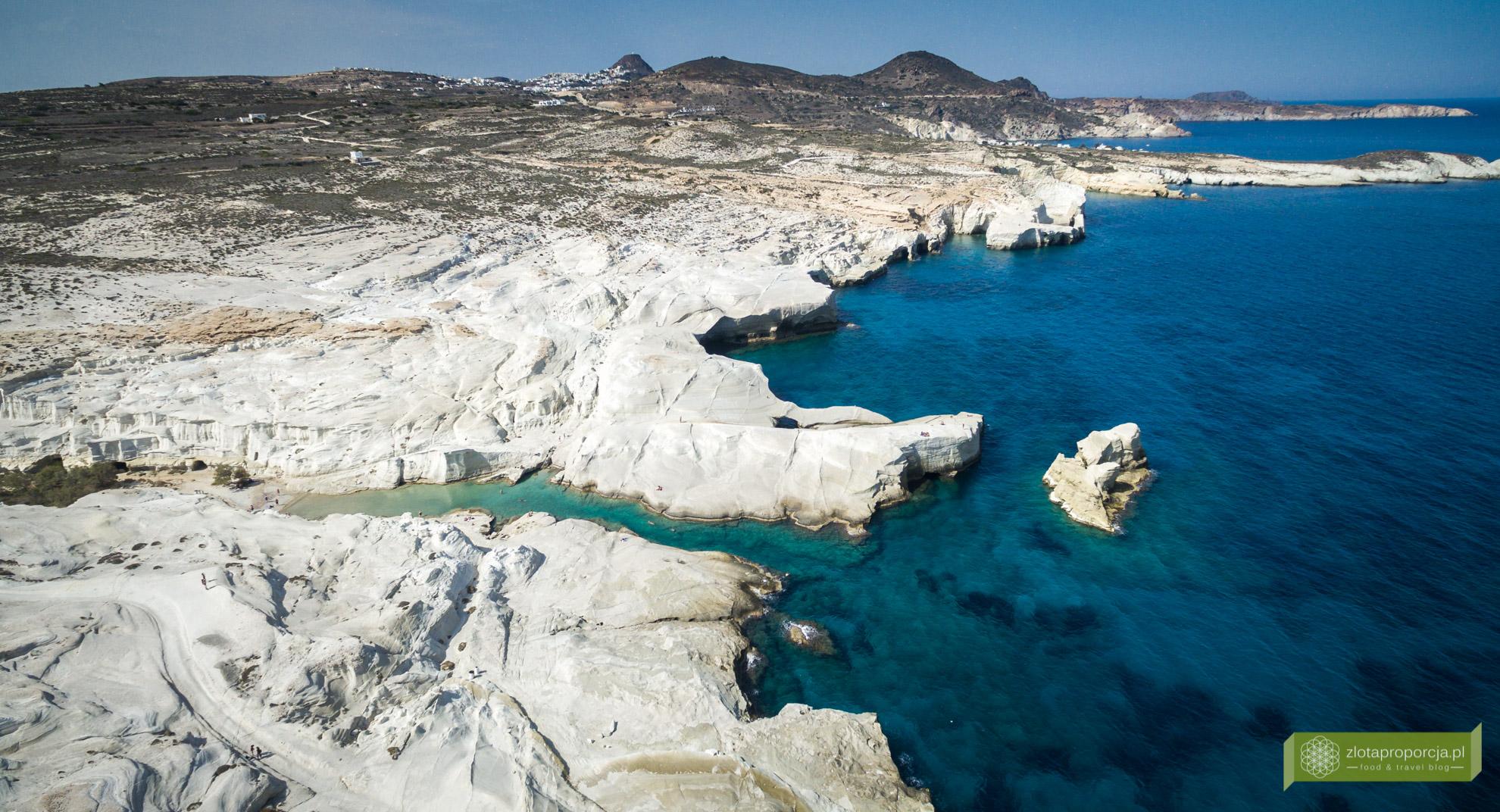 Sarakiniko, plaża Sarakiniko, Milos, wyspa Milos, Grecja, najpiękniejsze plaże Grecji, Cyklady