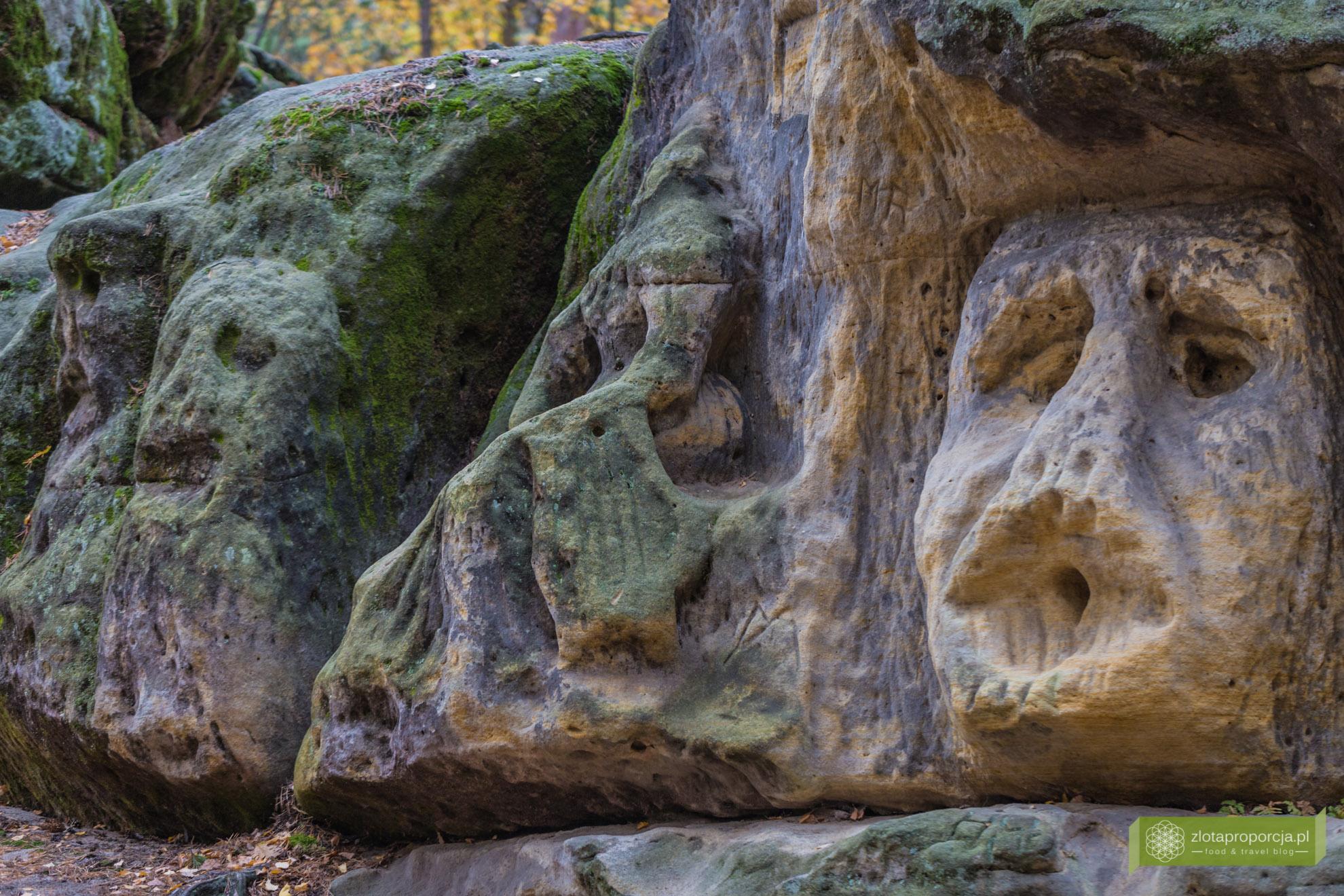 Harfenice, Kokorinsko, atrakcje Kokorinsko, sklane rzeźby Vaclava Levy, okolice Pragi, Czechy