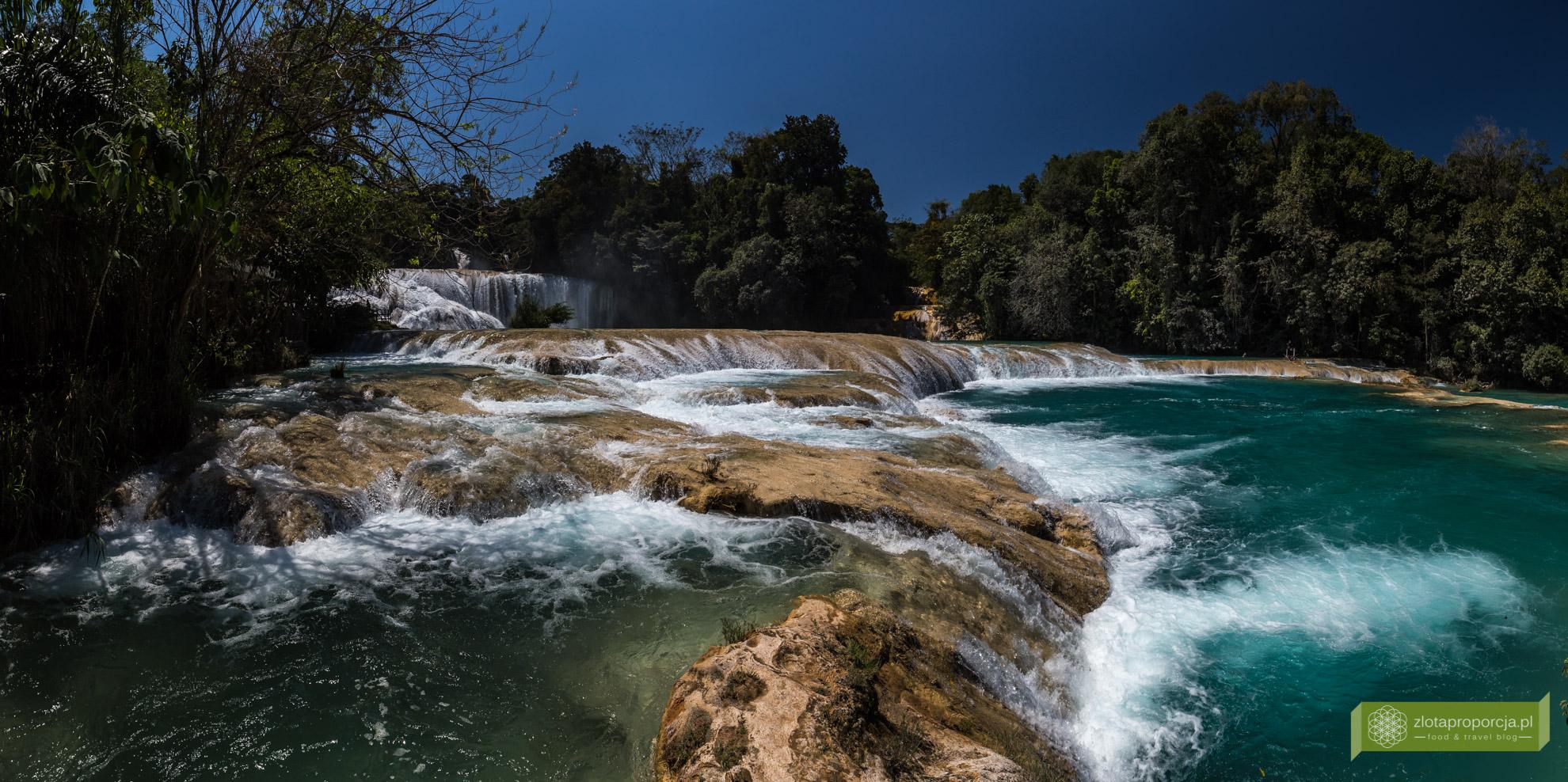 wodospady Agua Azul, Meksyk, atrakcje Meksyku, Chiapas, okolice Palenque;