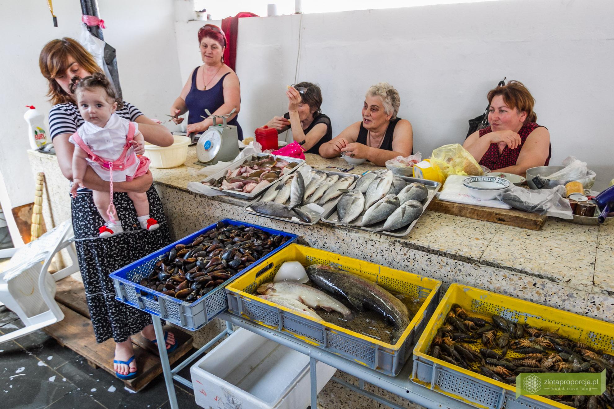 Batumi, Gruzja, Adżaria, atrakcje Batumi, co zobaczyć w Batumi, atrakcje Gruzji; targ rybny w Batumi