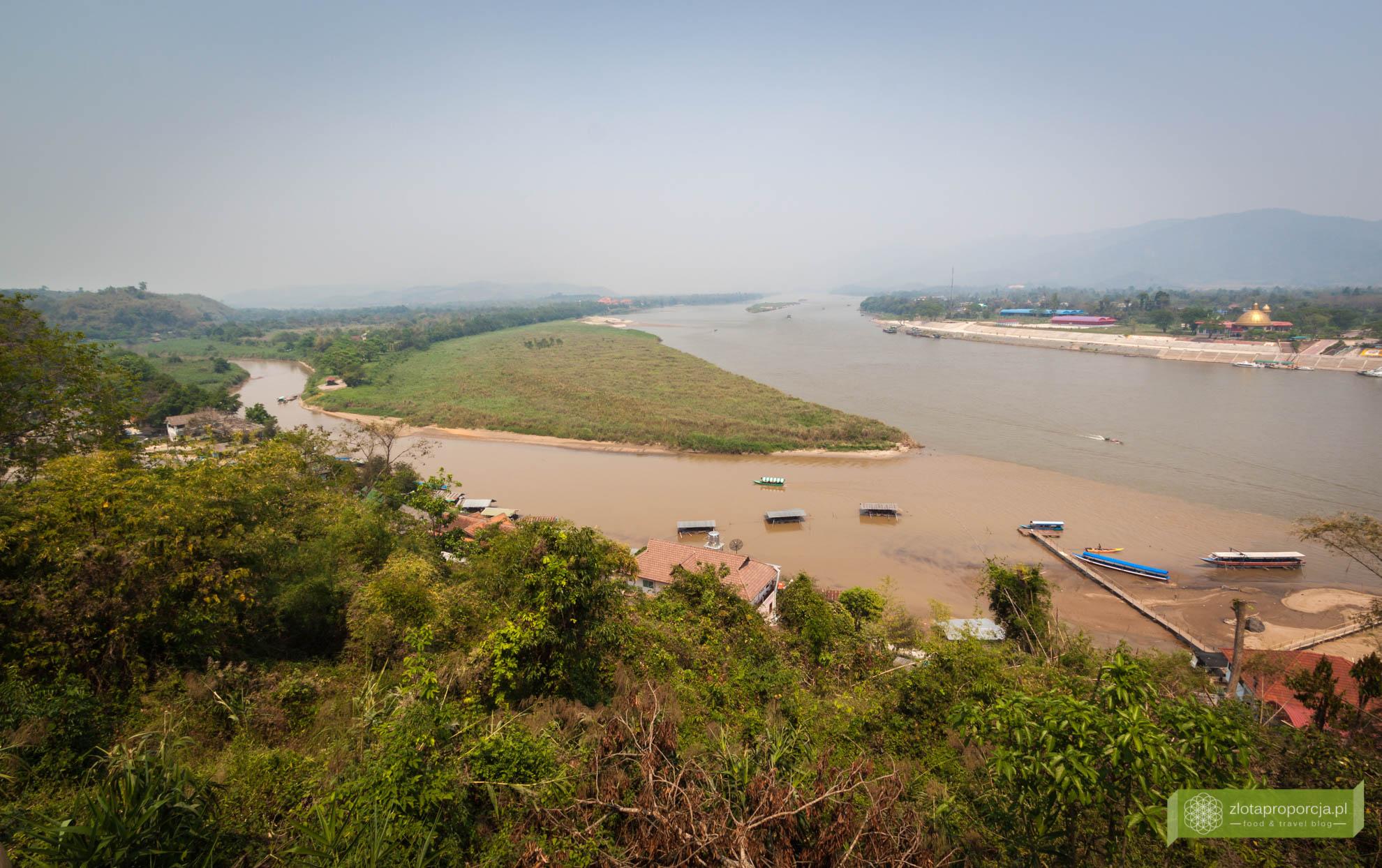 Tajlandia, Złoty Trójkąt, granica Tajlandii z Laosem