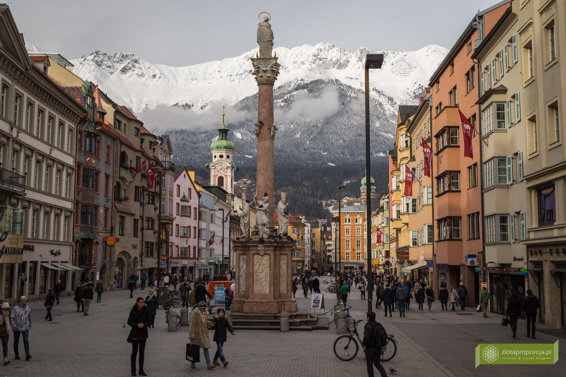 Innsbruck, Tyrol, Austria, atrakcje Innsbrucka, kolumna św. Anny,
