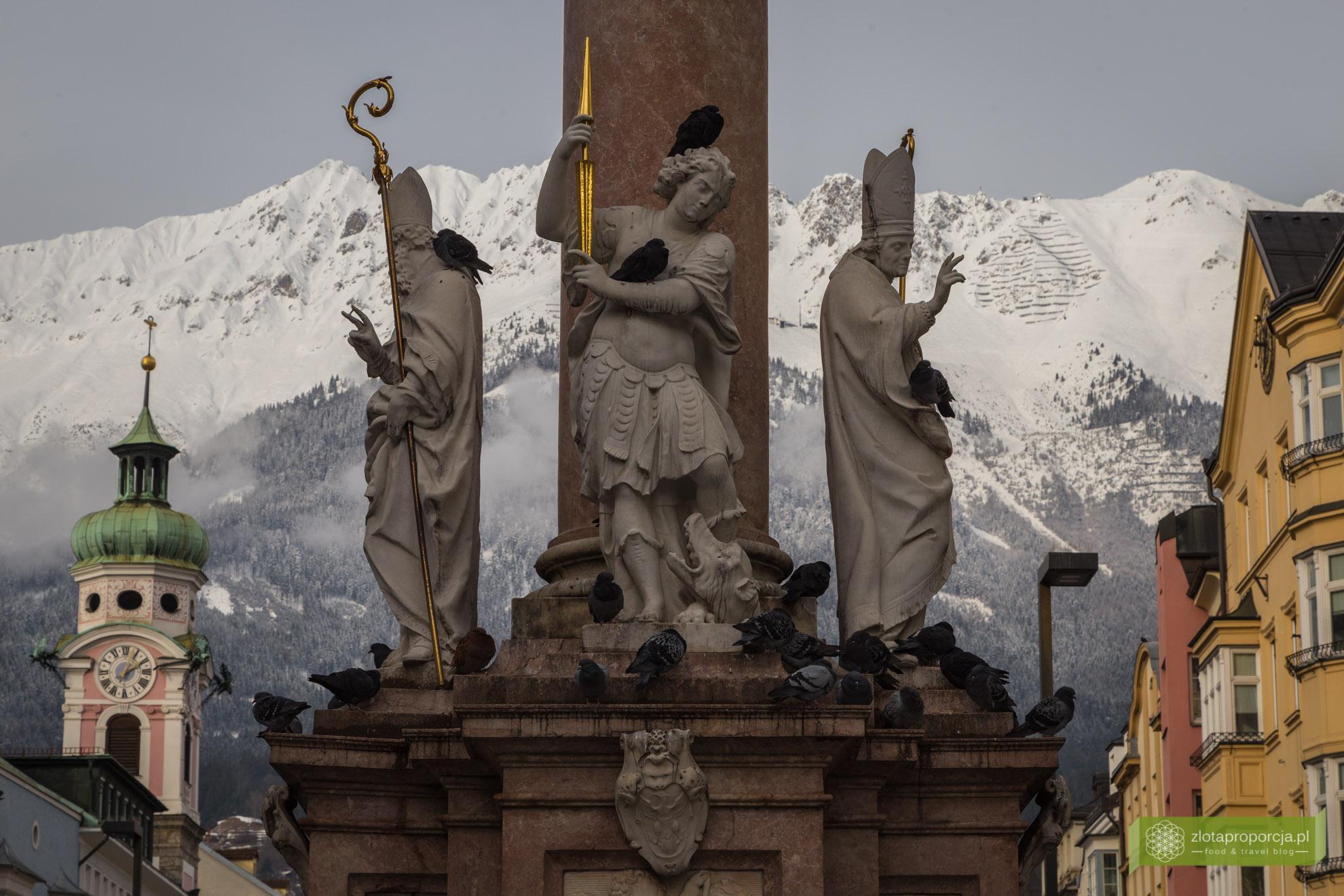 Innsbruck, Tyrol, Austria, atrakcje Innsbrucka, kolumna św. Anny