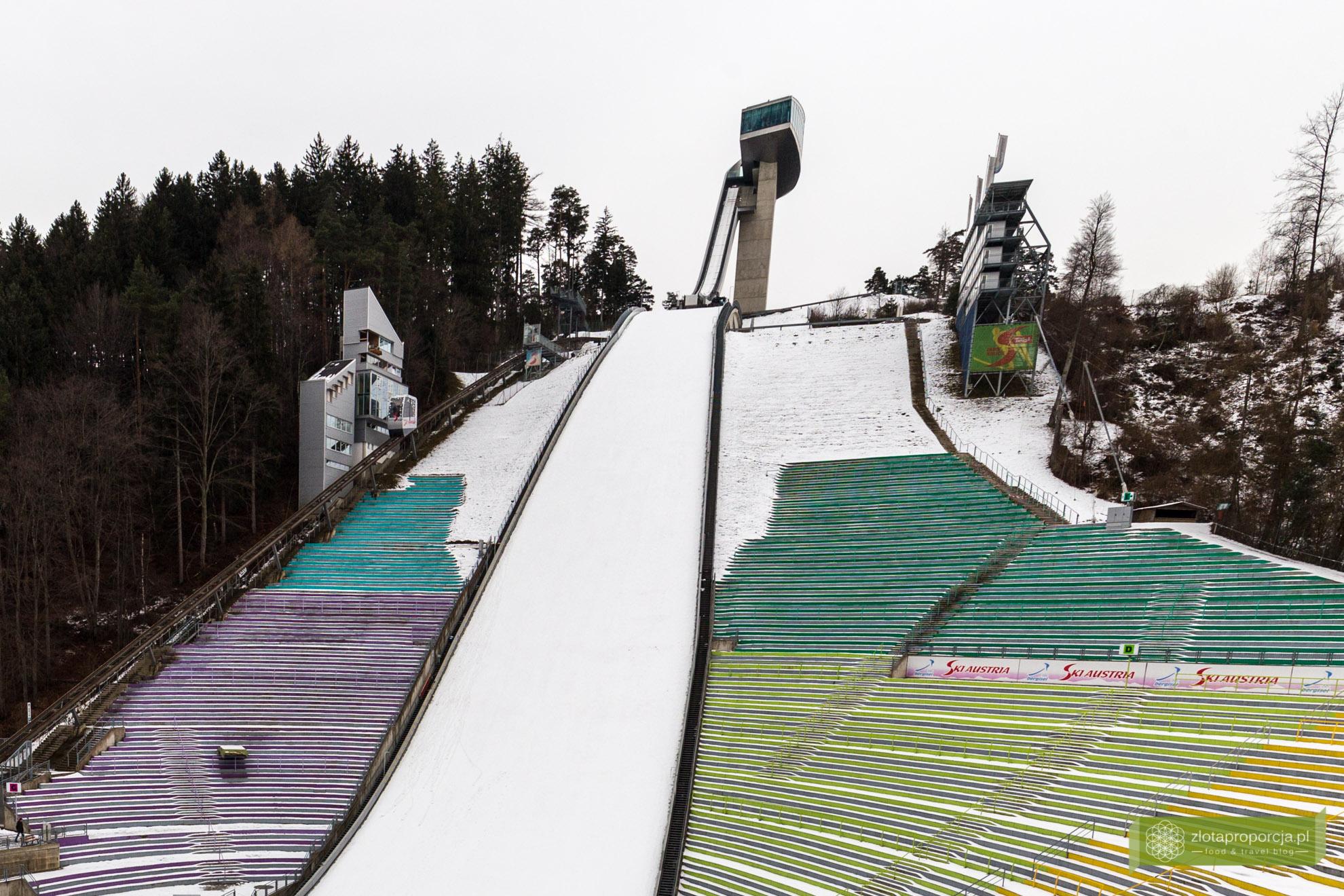 Innsbruck, Tyrol, Austria, atrakcje Innsbrucka, skocznia Bergisel, skocznia narciarska w Innsbrucku
