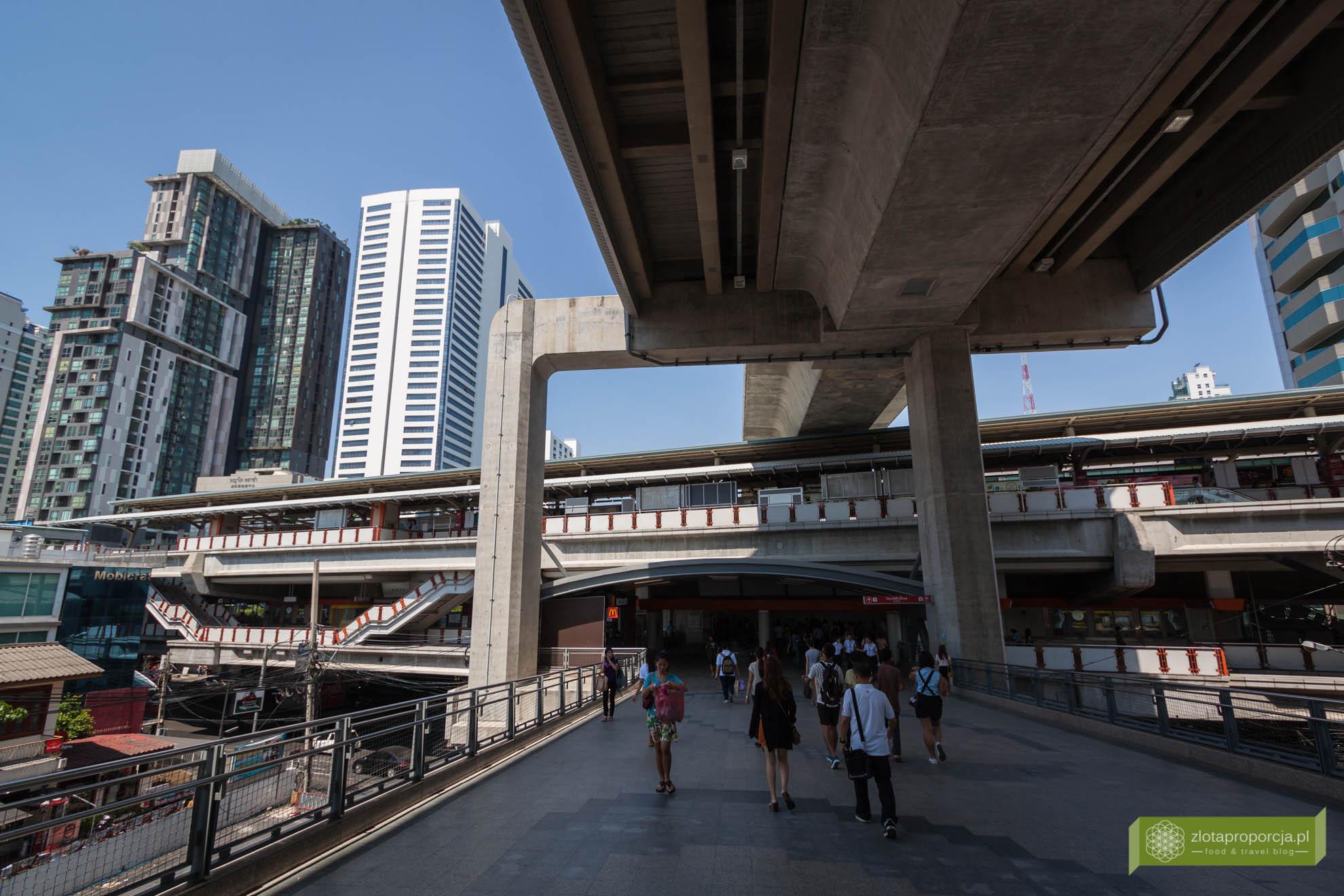 Bangkok, Tajlandia, skytrain