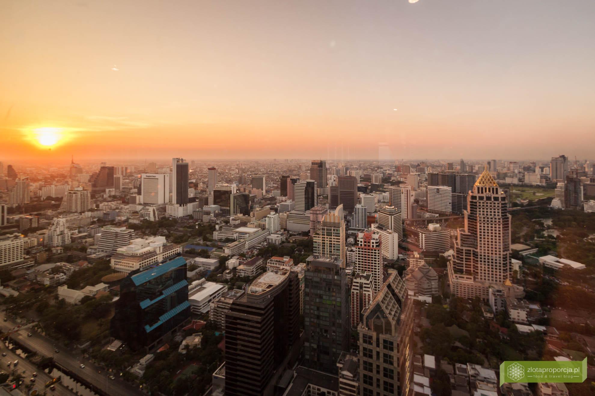 Bangkok, Tajlandia, Moon Bar, Bangkok z 61 piętra