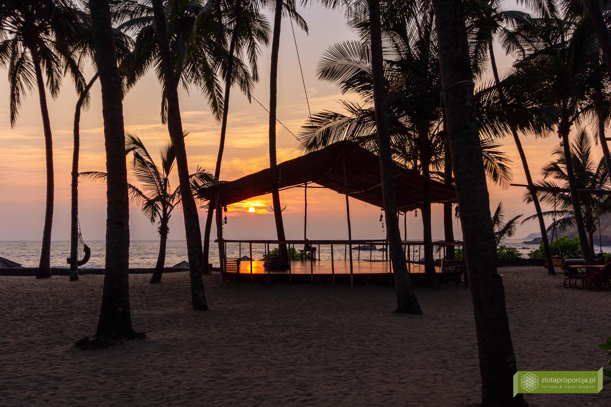 Goa, Indie, Cola beach, Goa szkołą jogi