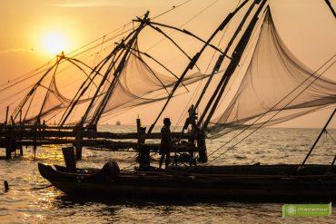 Koczin, Kerala, Indie, atrakcje Kerali; targ rybny w Koczin