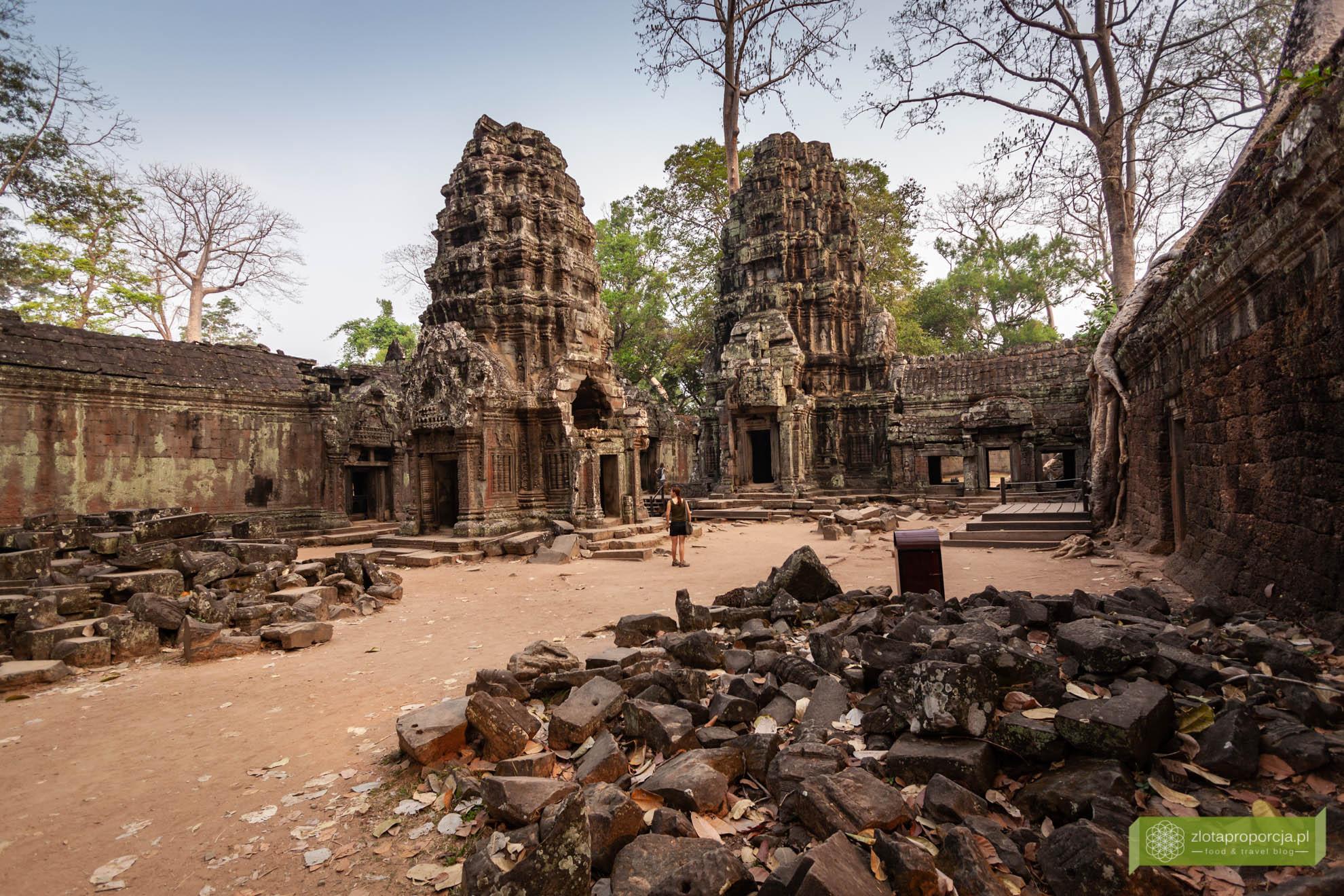 Angkor, Siem Reap, Kambodża; Ta Prohm, świątynia Tomb Raidera