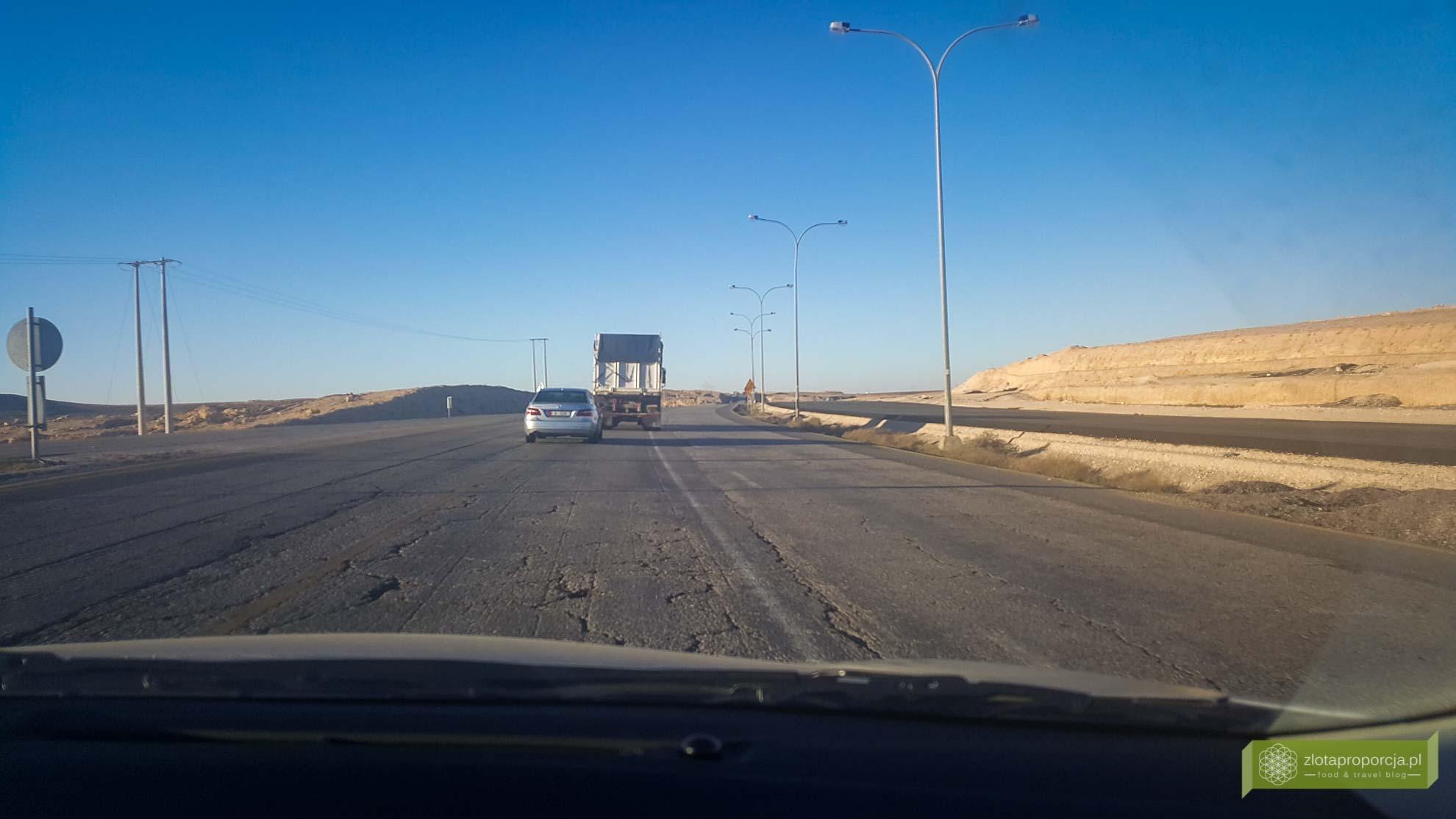 Jordania, Jordania samochodem, Jordania drogi, autostrada pustynna Jordania,;