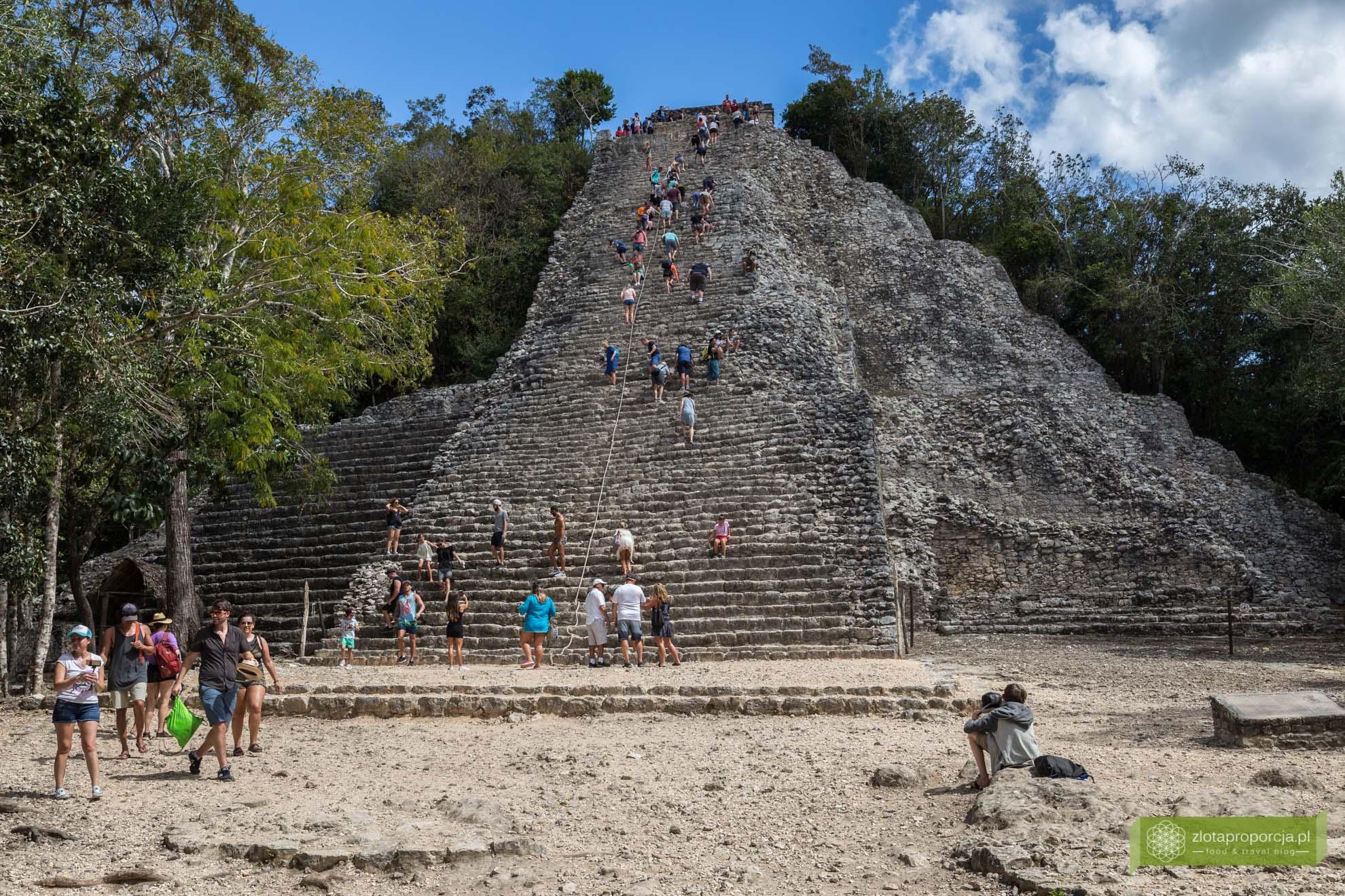 Meksyk, Miasta Majów, strefy archeologiczne na Jukatanie; Majowie budowle, Miasta Majów Meksyk, Majowie osiągnięcia; Coba, Miasta Majów Jukatan; Nohoch Mul Coba,piramida Nohoch Mul;