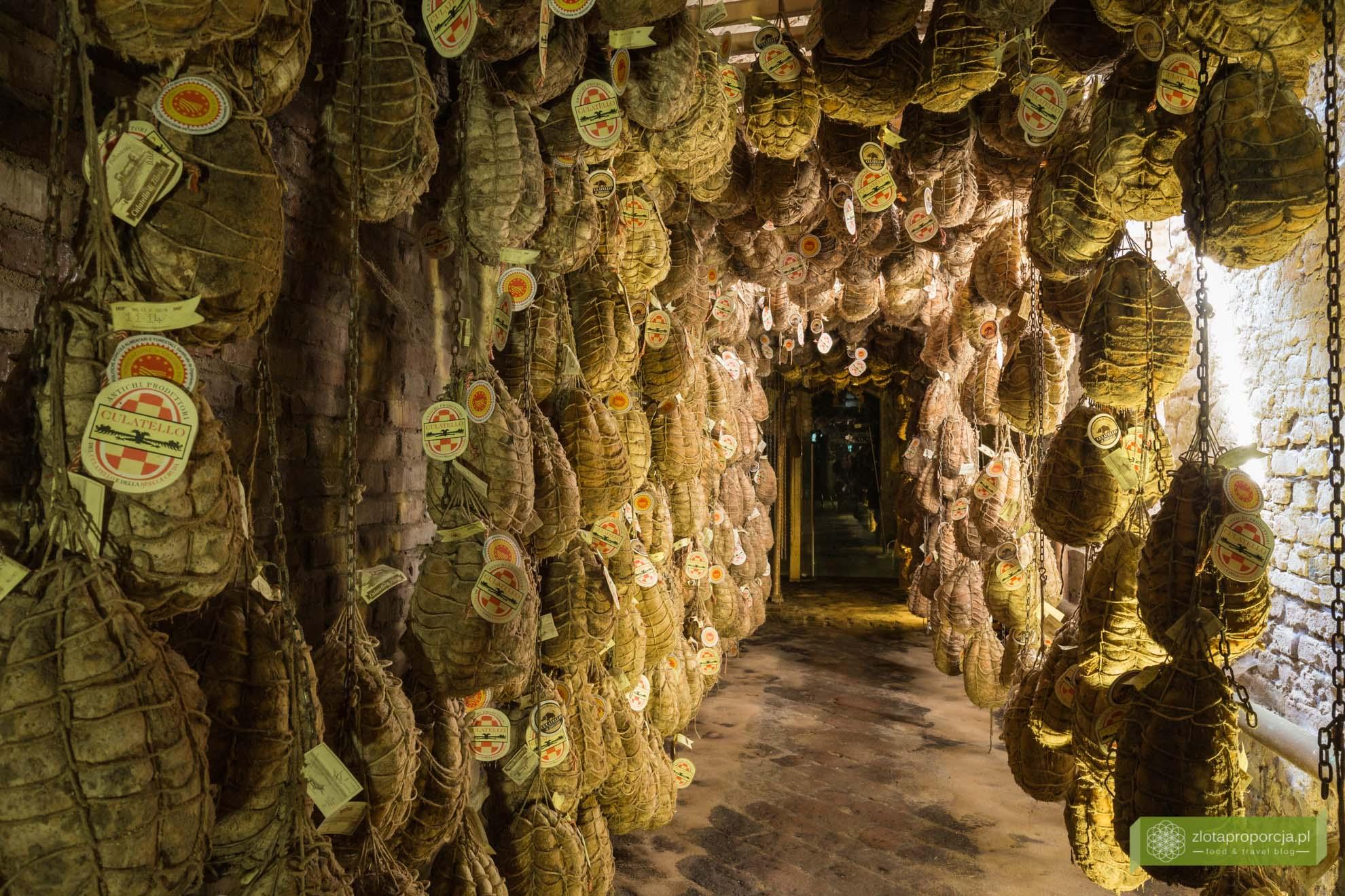 Culatello di Zibello, Antica Corte Pallavicina, Emilia-Romania; kuchnia Emilii-Romanii; kuchnia włoska; włoska szynka, okolice Parmy,; najdroższa włoska szynka; culatello spigaroli;
