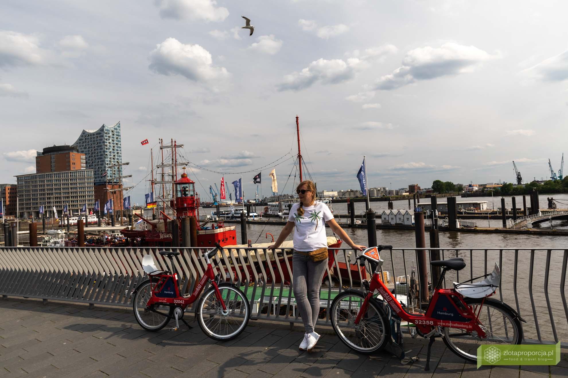 Hamburg, atrakcje Hamburga, Niemcy; Landungsbrücken; port w Hamburgu;