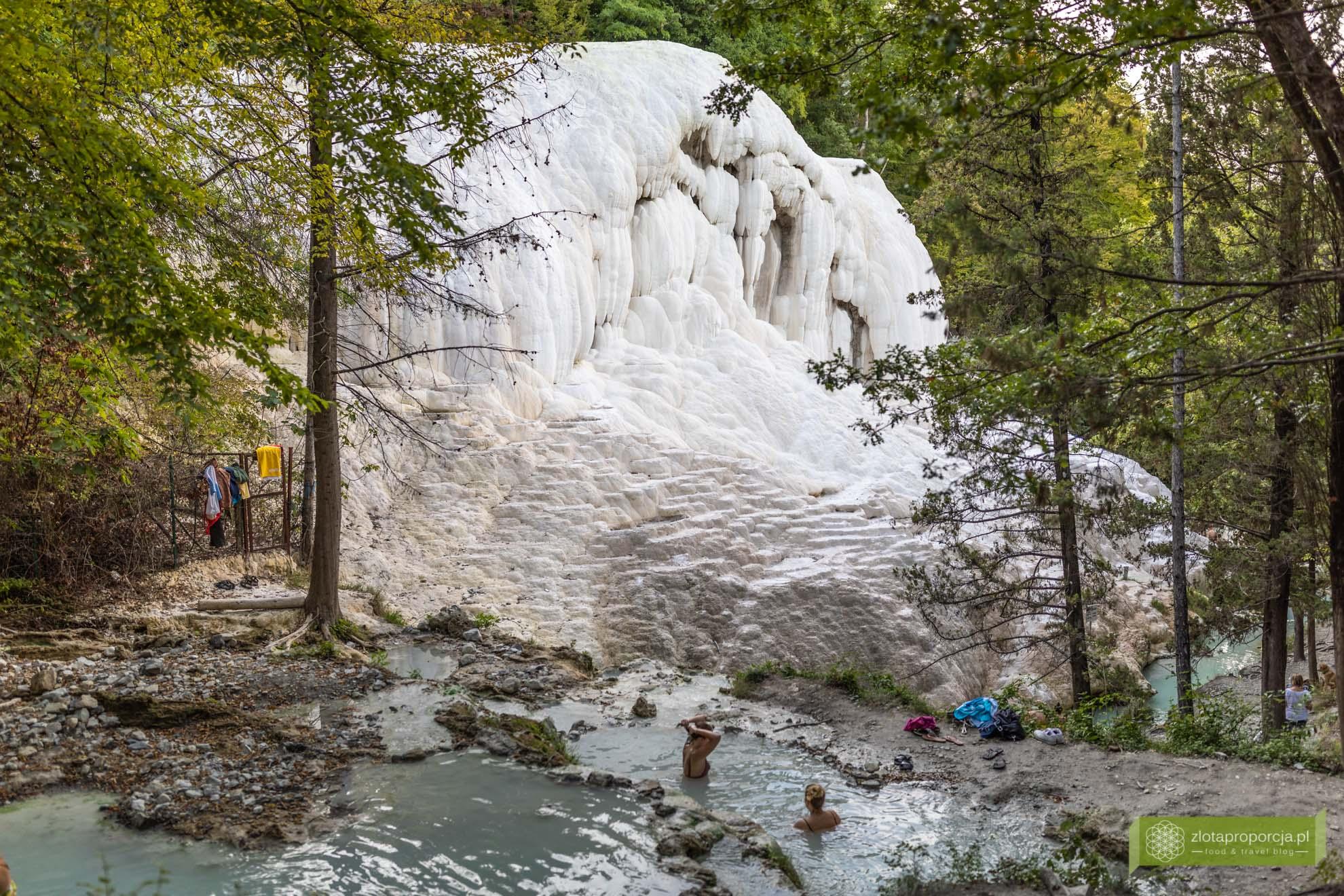 Toskania; atrakcje Toskanii; Toskania gorące źródła, termy Toskania; Bagni San Filippo; Terme San Filippo;