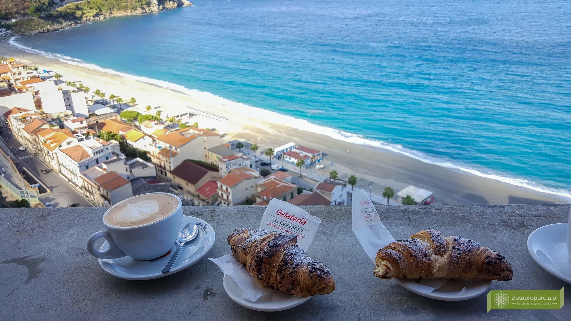 Scilla; Kalabria; włoskie śniadanie; typowe włoskie śniadanie